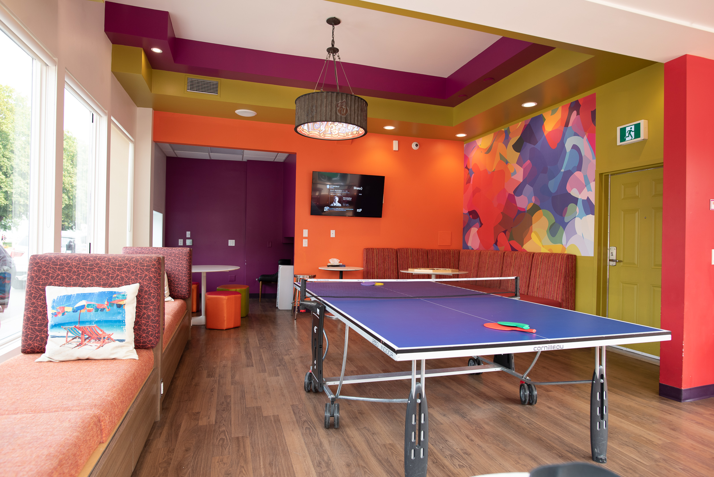 Inside the Ping Pong Lounge.
