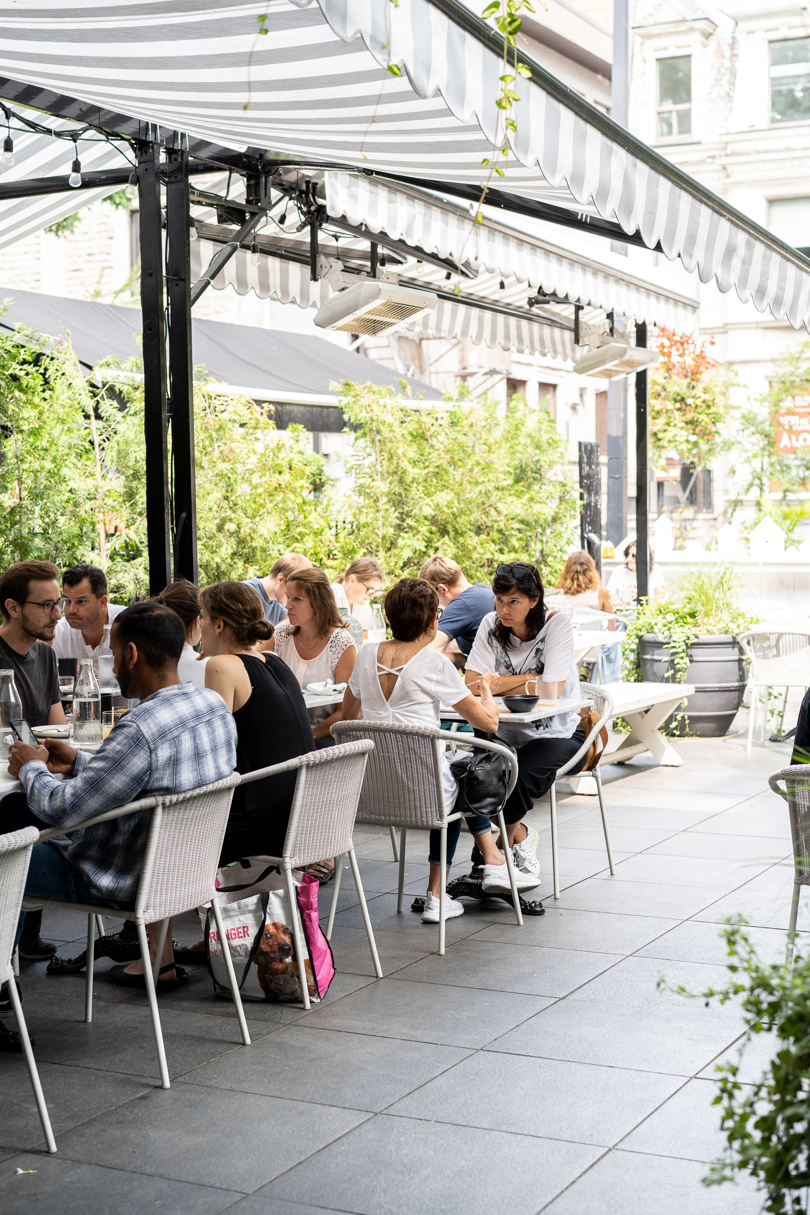 On a warm summer day it's no surprise the patio is busy.