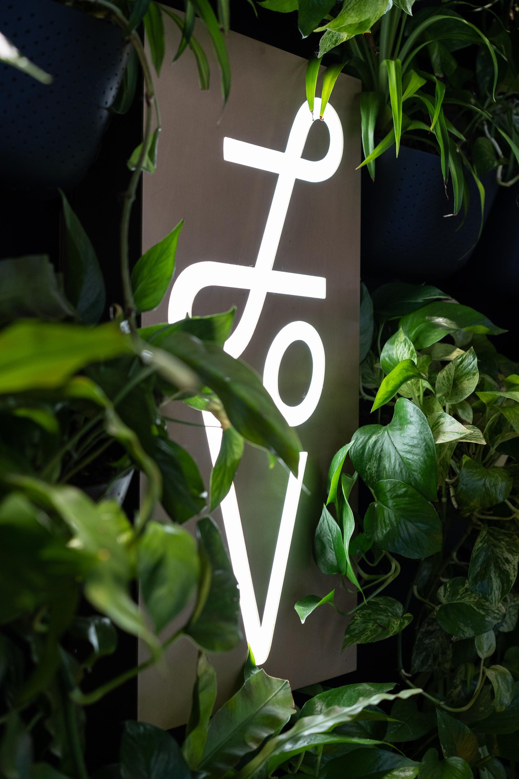 We love this illuminated sign.