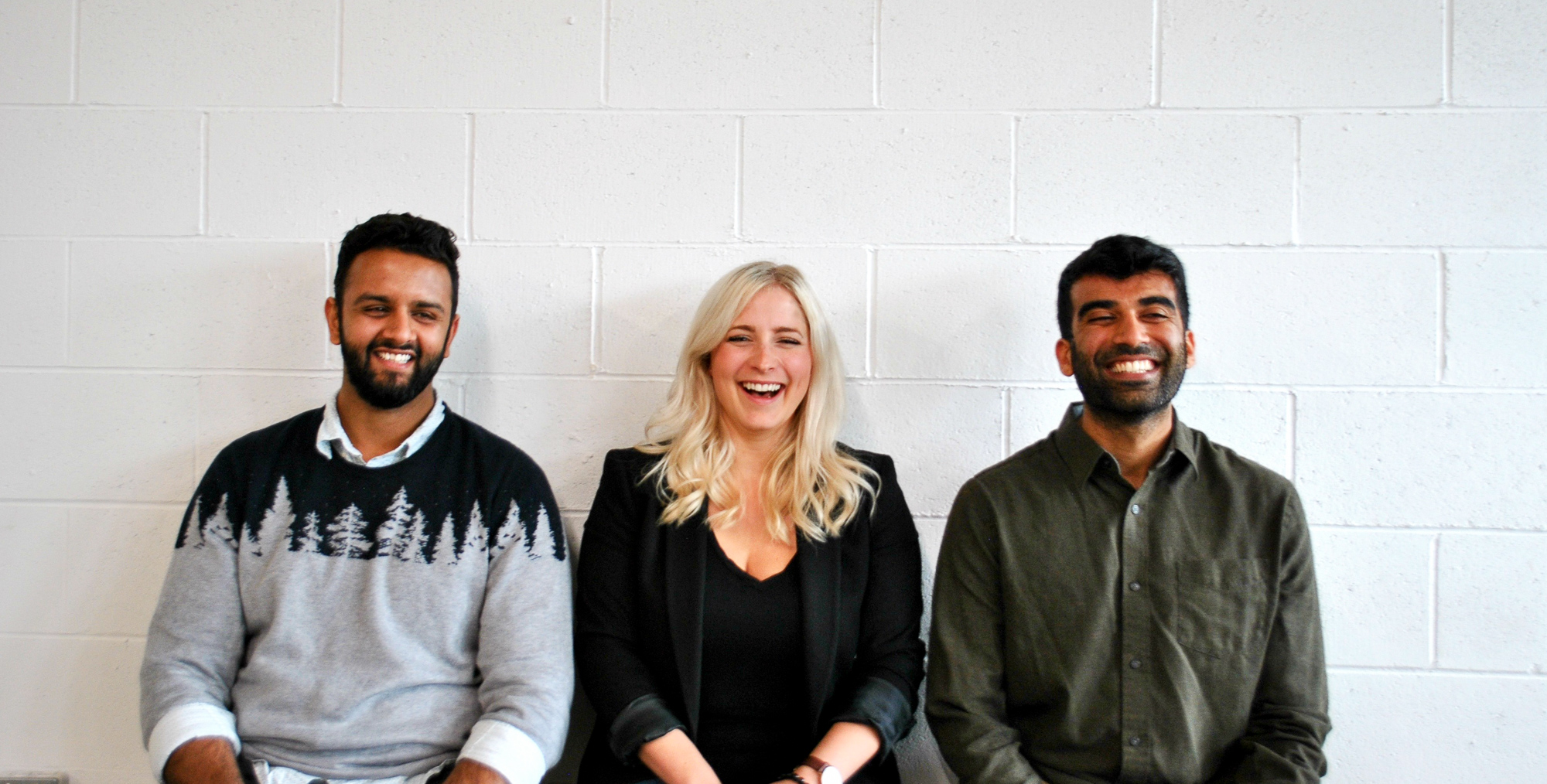 The Fresh Prep team. Dhruv Sood, Becky Switzer and Husein Rahemtulla.
