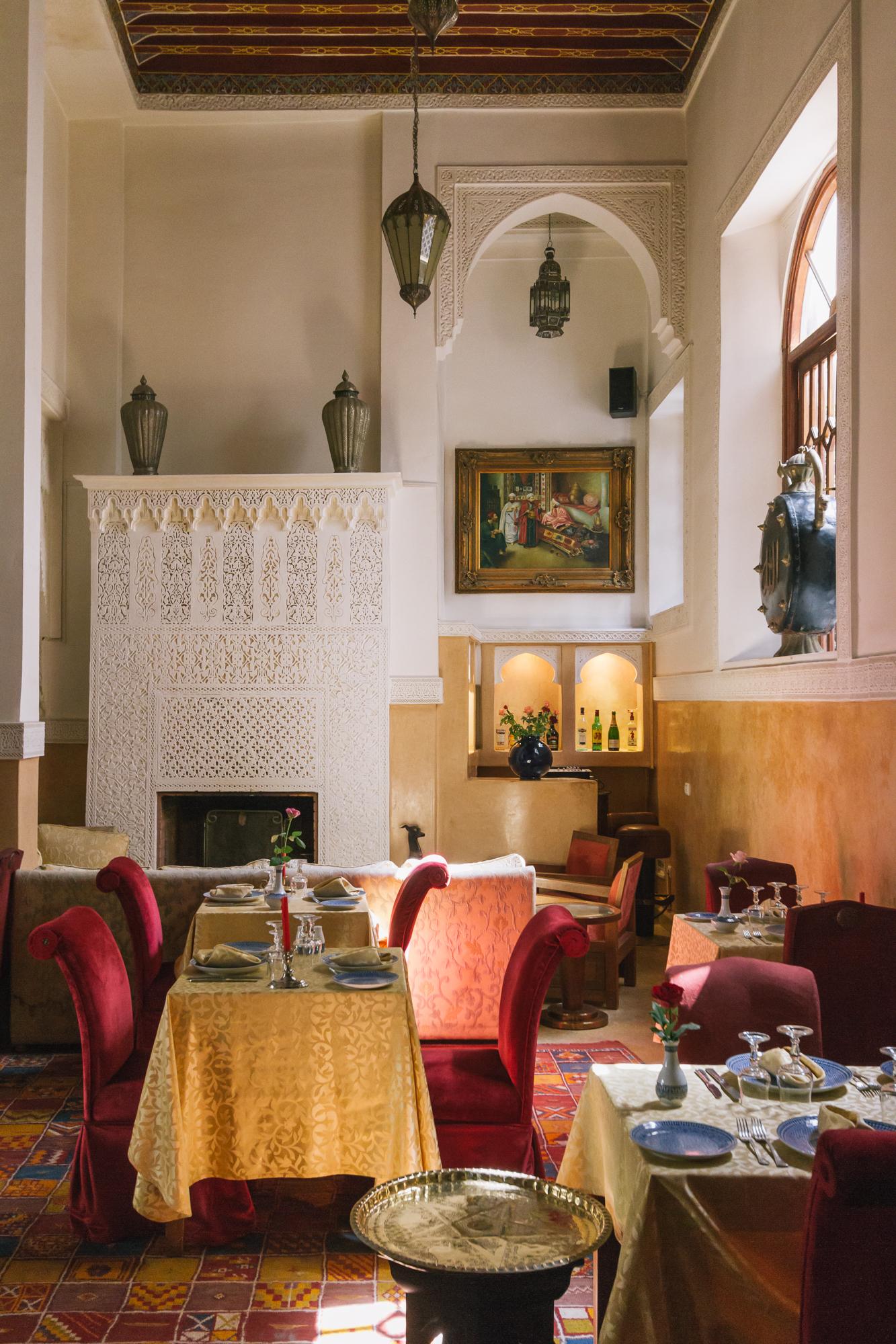 Esprit du Maroc's A la carte restaurant.