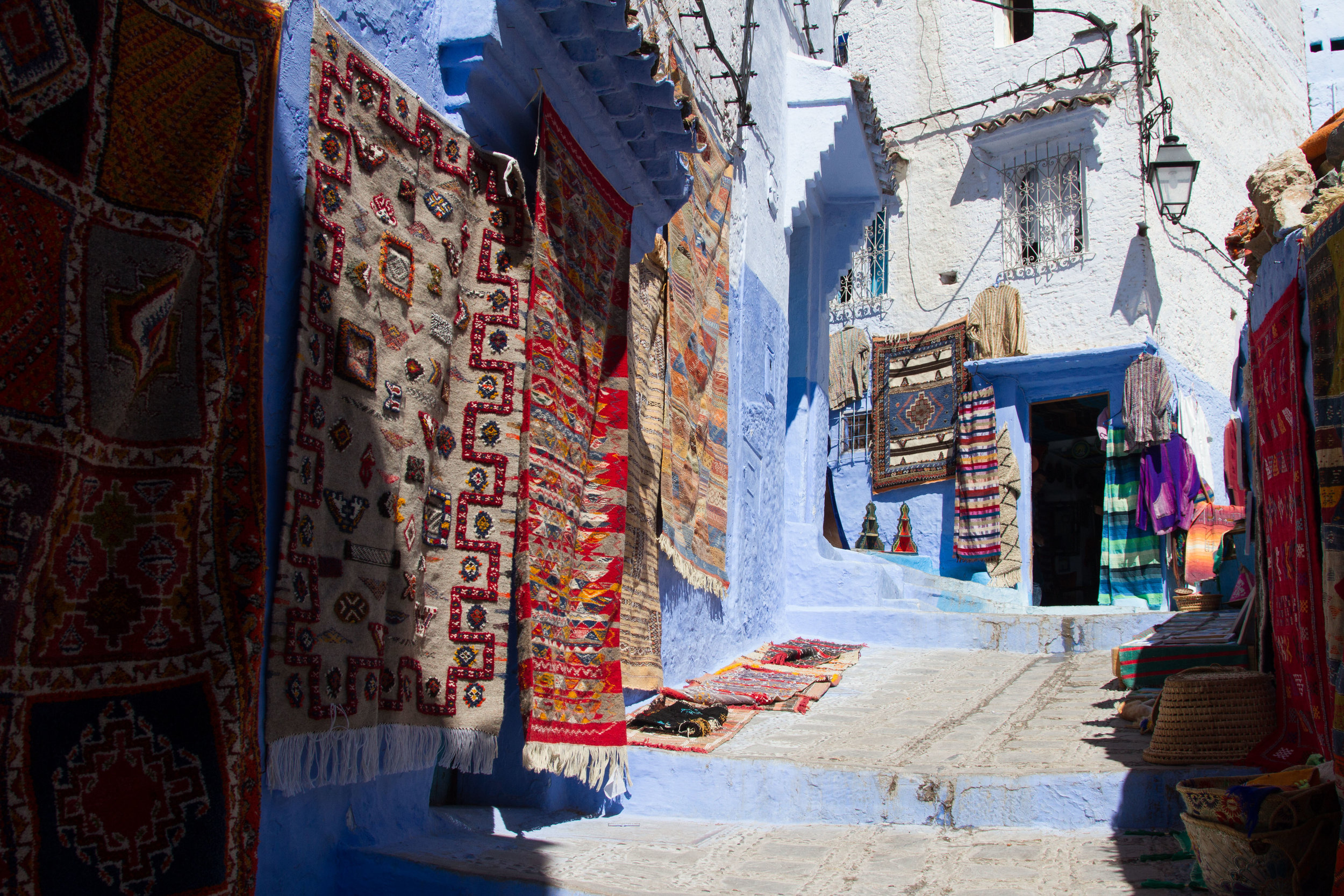 A rug shop in Chefchaouen