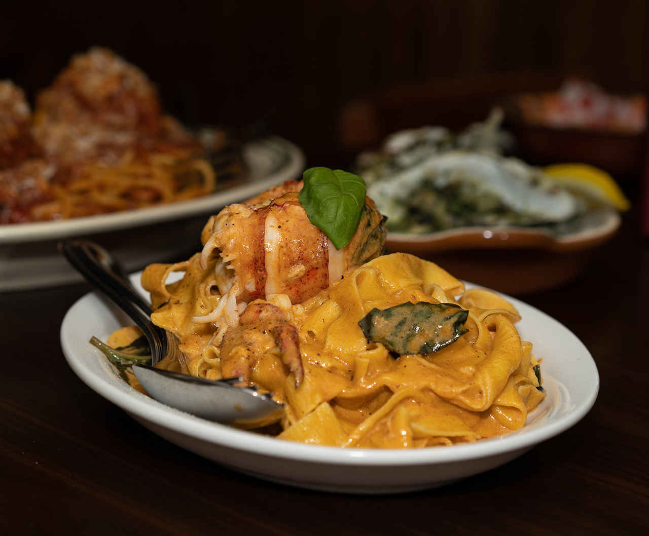 Specials that are not to be ignored - like this Lobster Fettuccine.