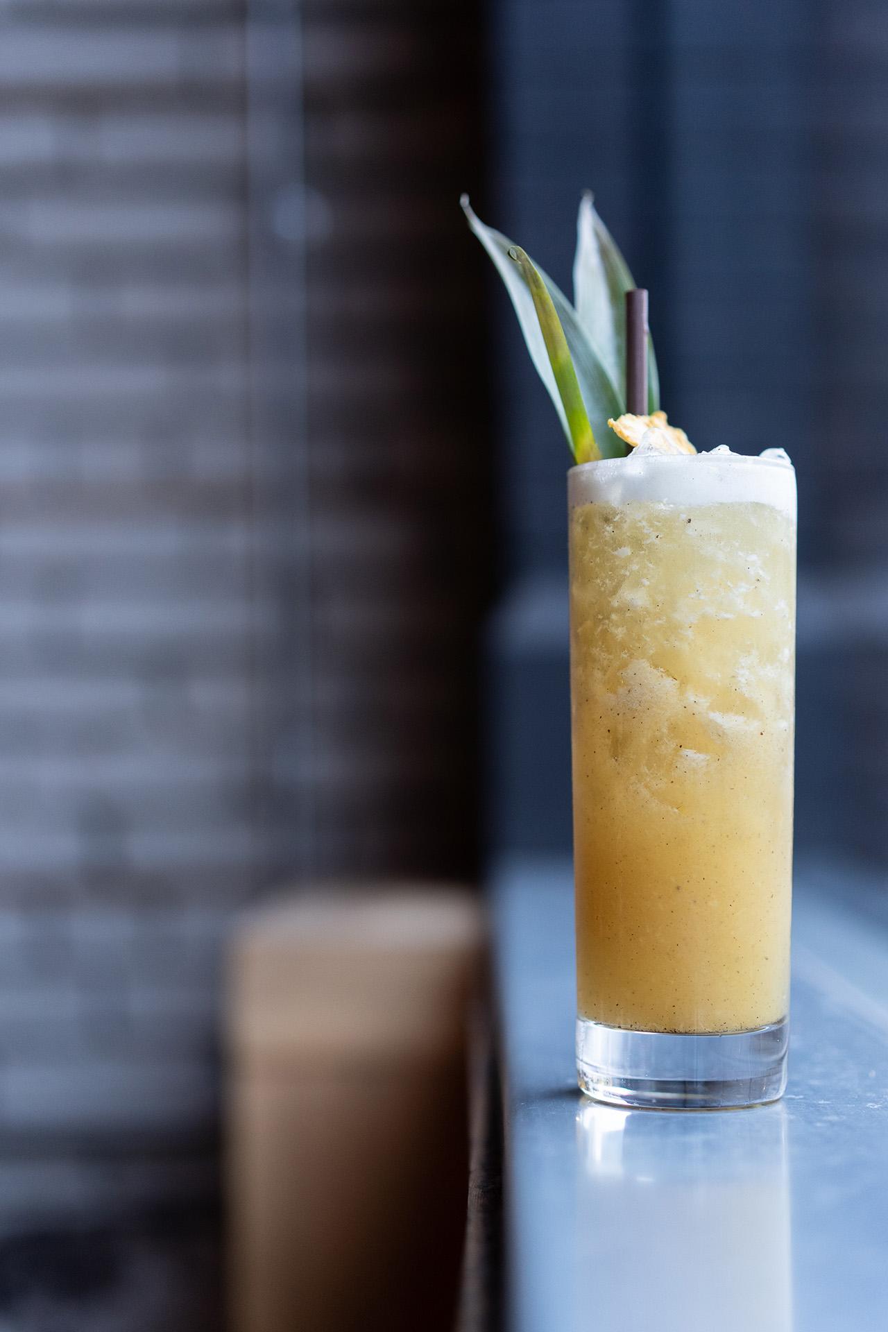 Pina Borracha: Havana 3yr rum, Wray & Nephew rum, grilled pineapple juice, vanilla syrup, lemon and soda.