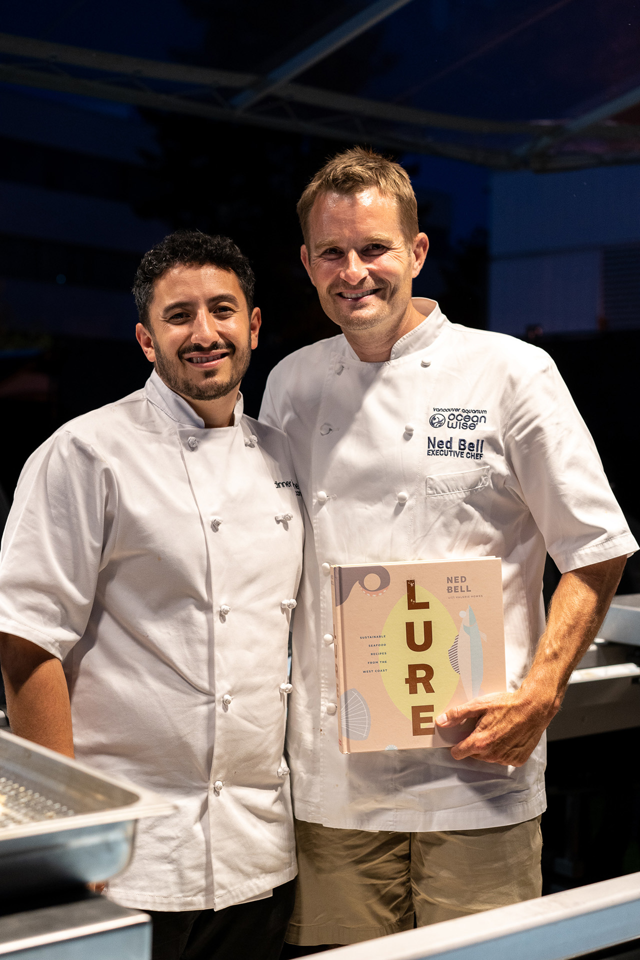 Chef Ned Bell with Chef Evan Elman on his team.