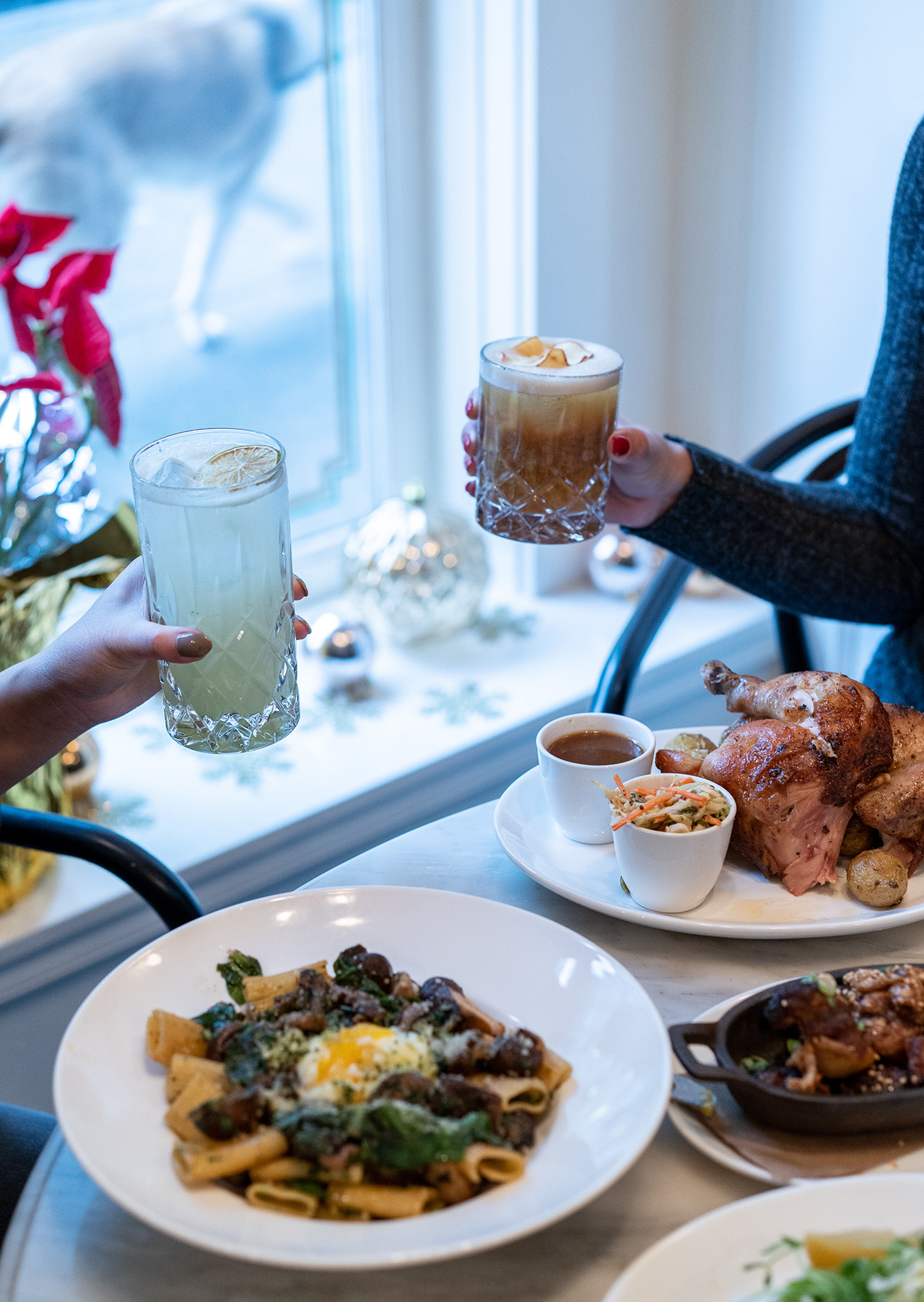 Homer Street Cafe is the perfect to celebrate the holidays.
