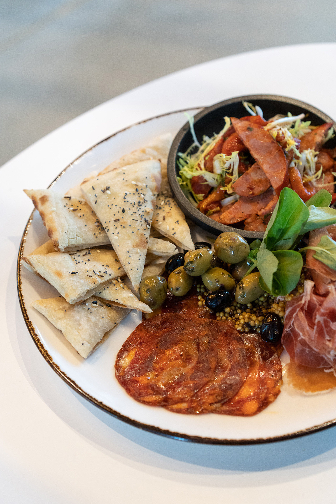 Charcuterie platter perfect for sharing.