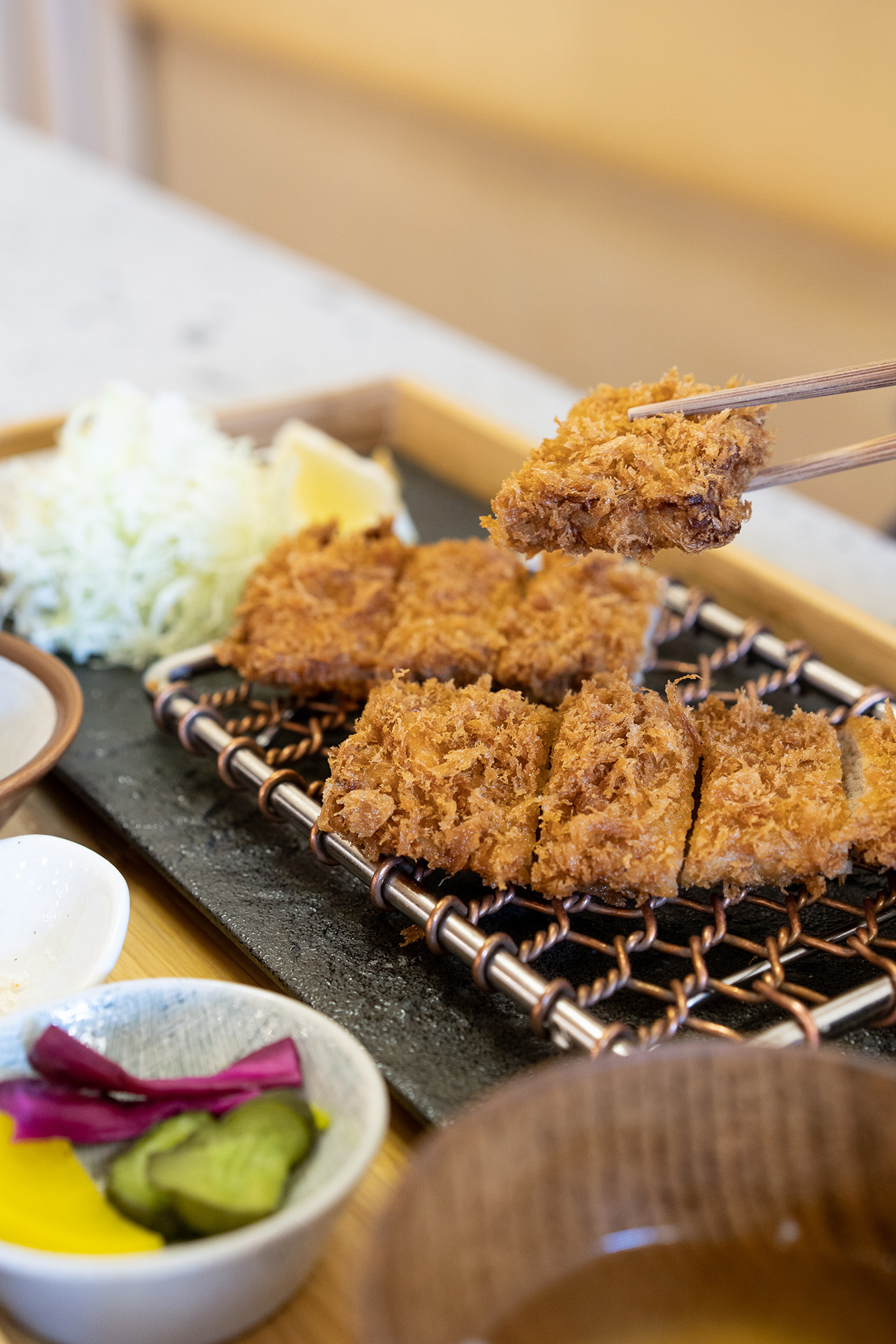 Hire Katsu. Deep fried breaded pork fillet.