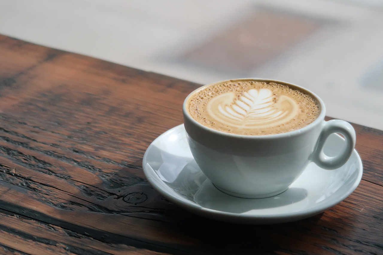 A beautifully poured Cappuccino.