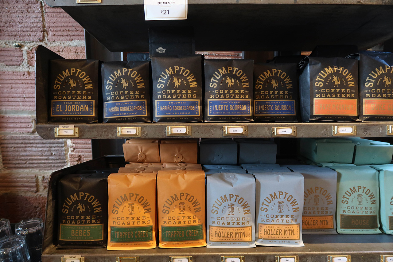 Beautiful vintage packaging for their retail coffee