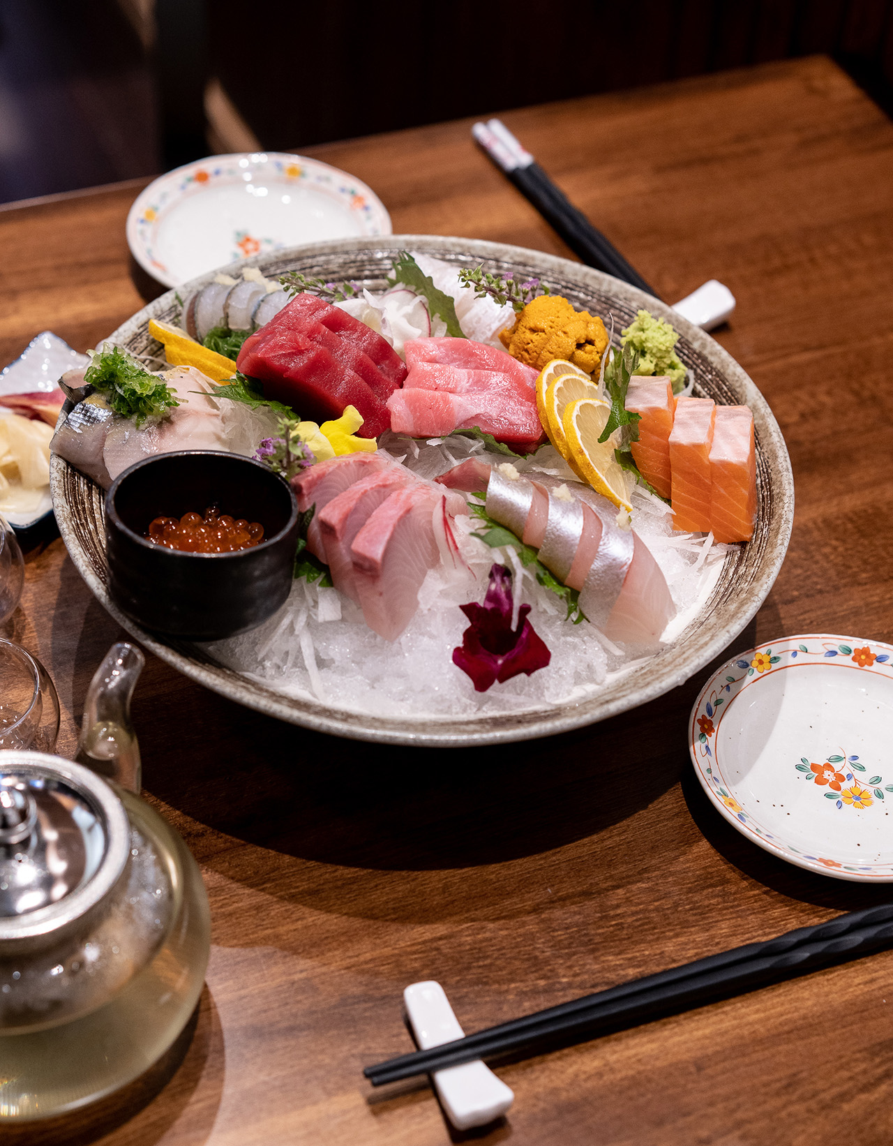 An indulgent sashimi meal for two.
