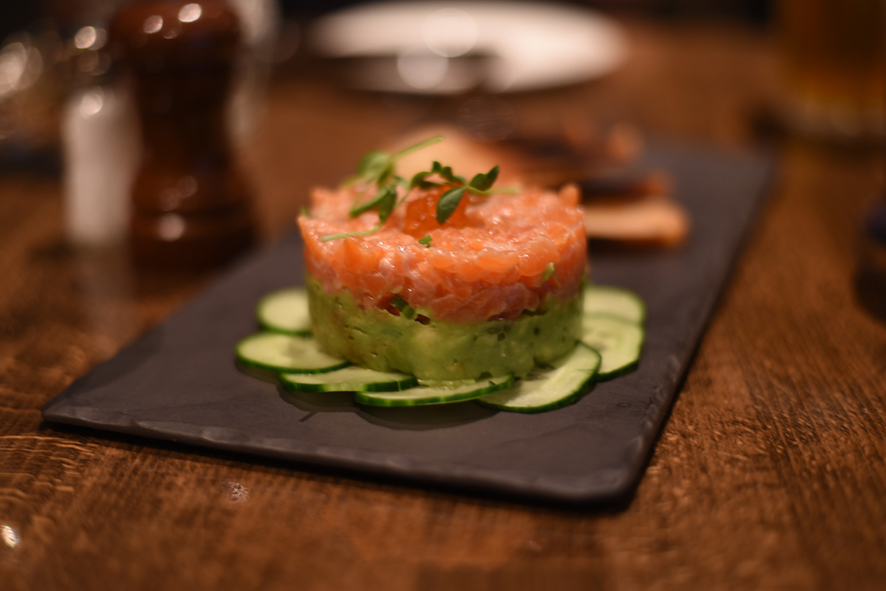 Refreshing salmon tartar to start.