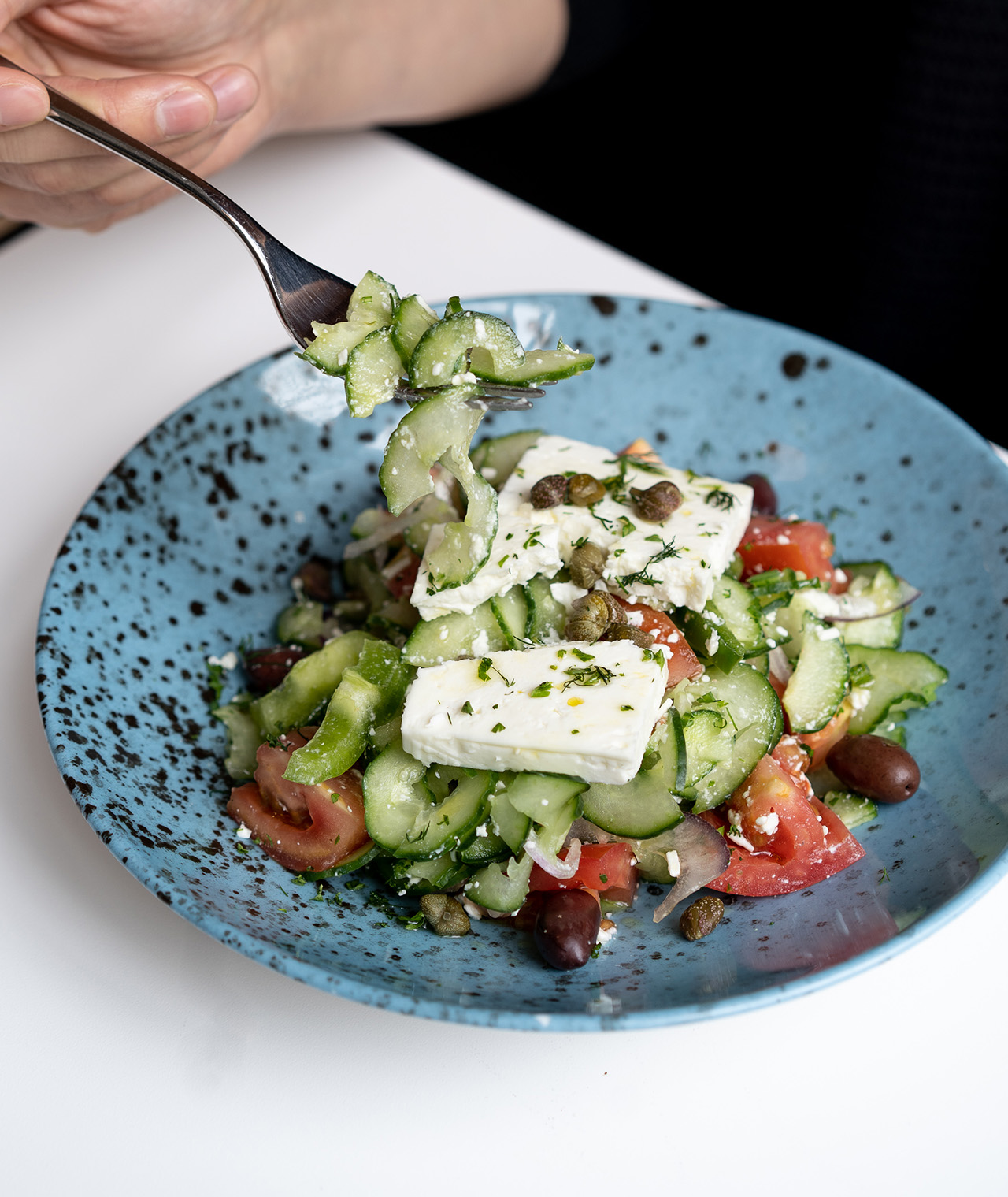 Greek Salad - a refreshing start to your meal.