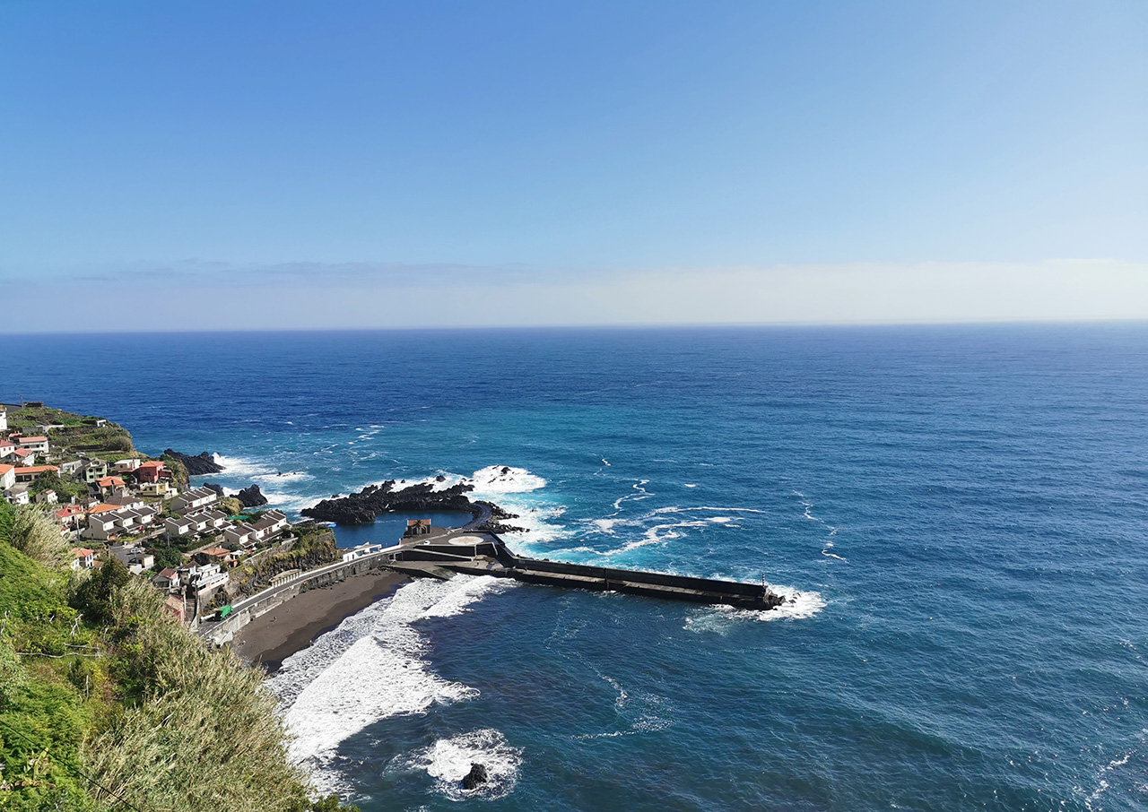 An unusually windy day made the Porto Moniz lava pools inaccessible.