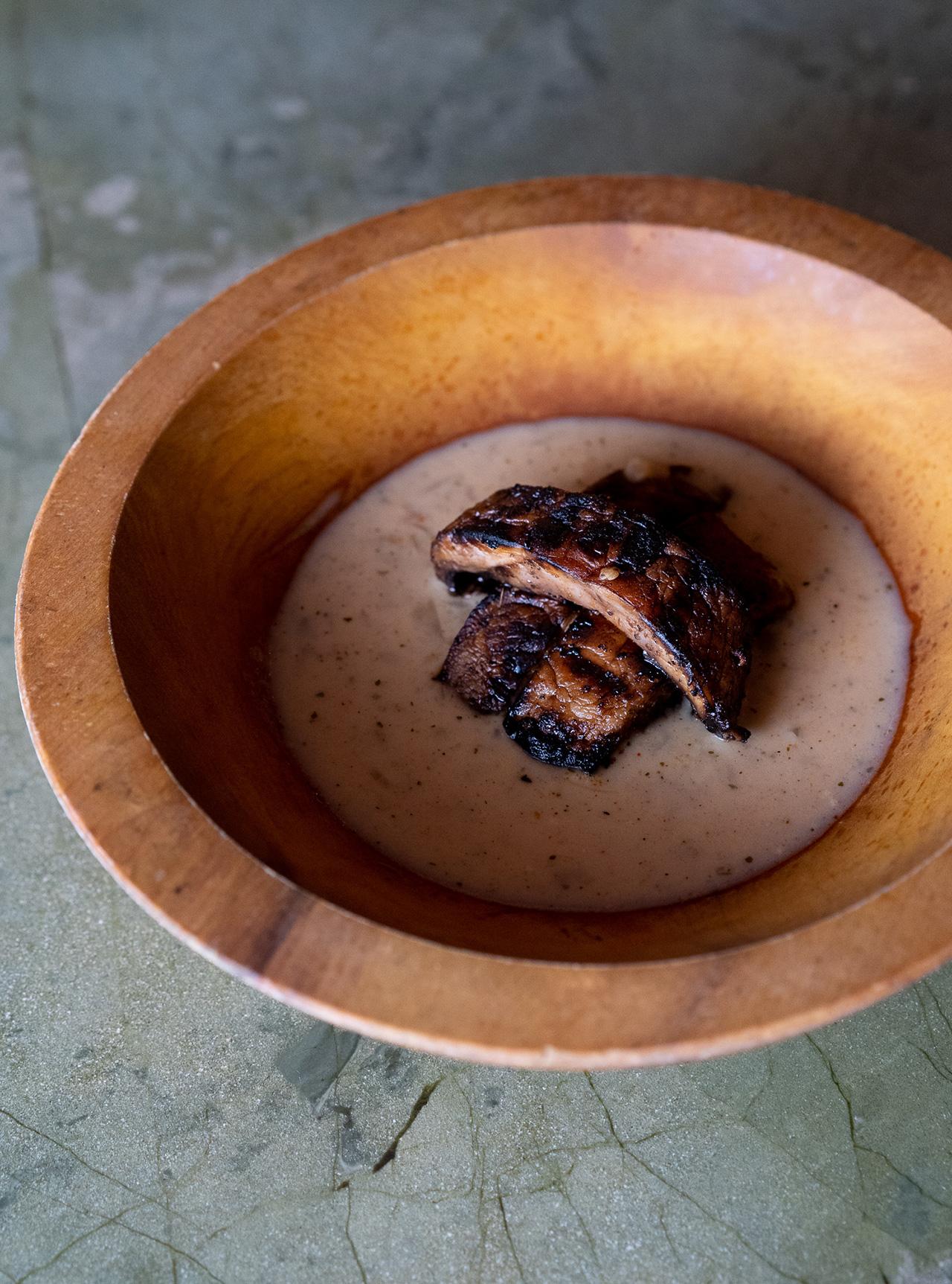 Garam Masala Portobello Mushrooms in Porcini Cream Curry.