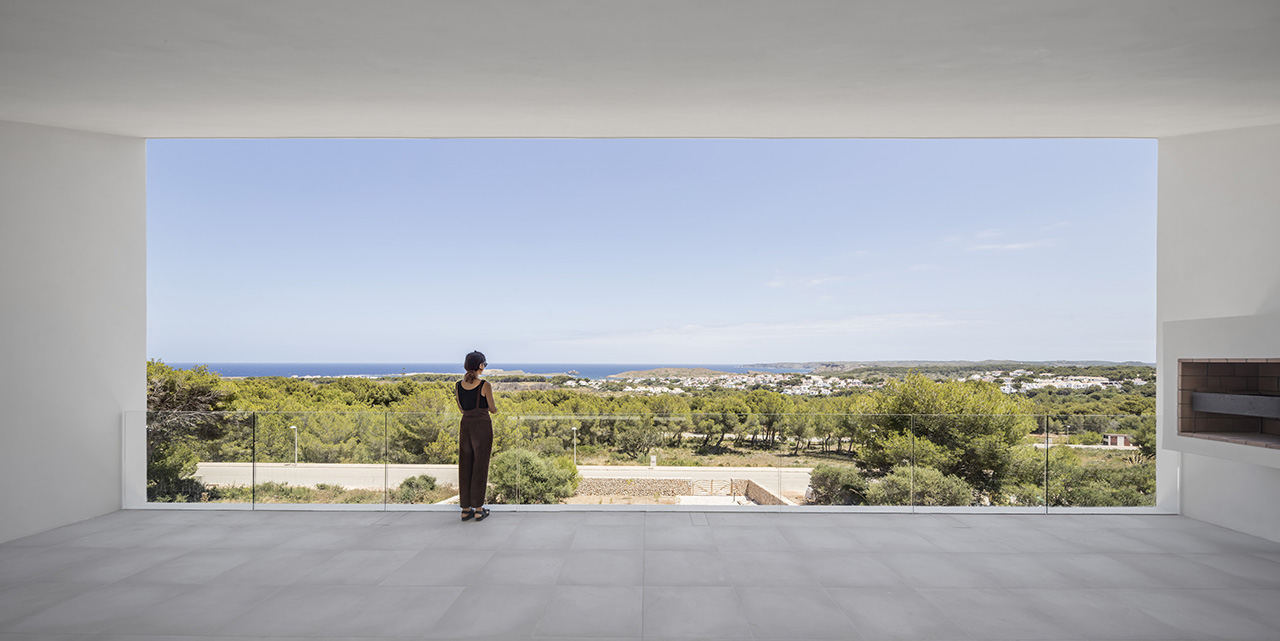 A 'frame' of the stunning view of the Mediterranean Sea.