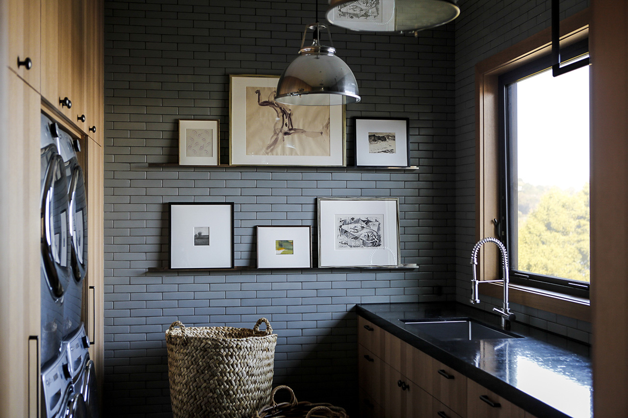 Art can be found even within the house's mudroom