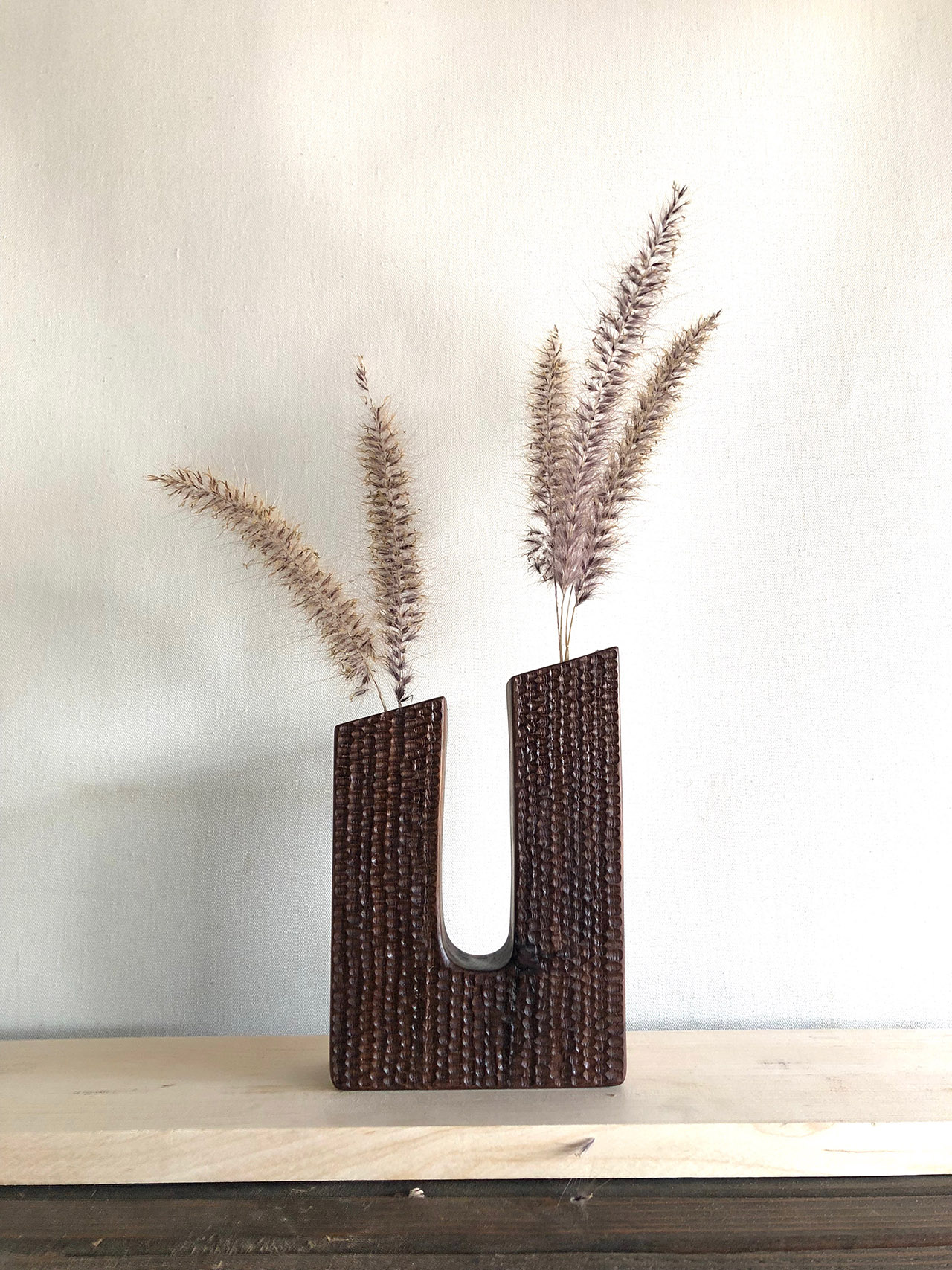 Wooden flower vase from Unlikely Objects