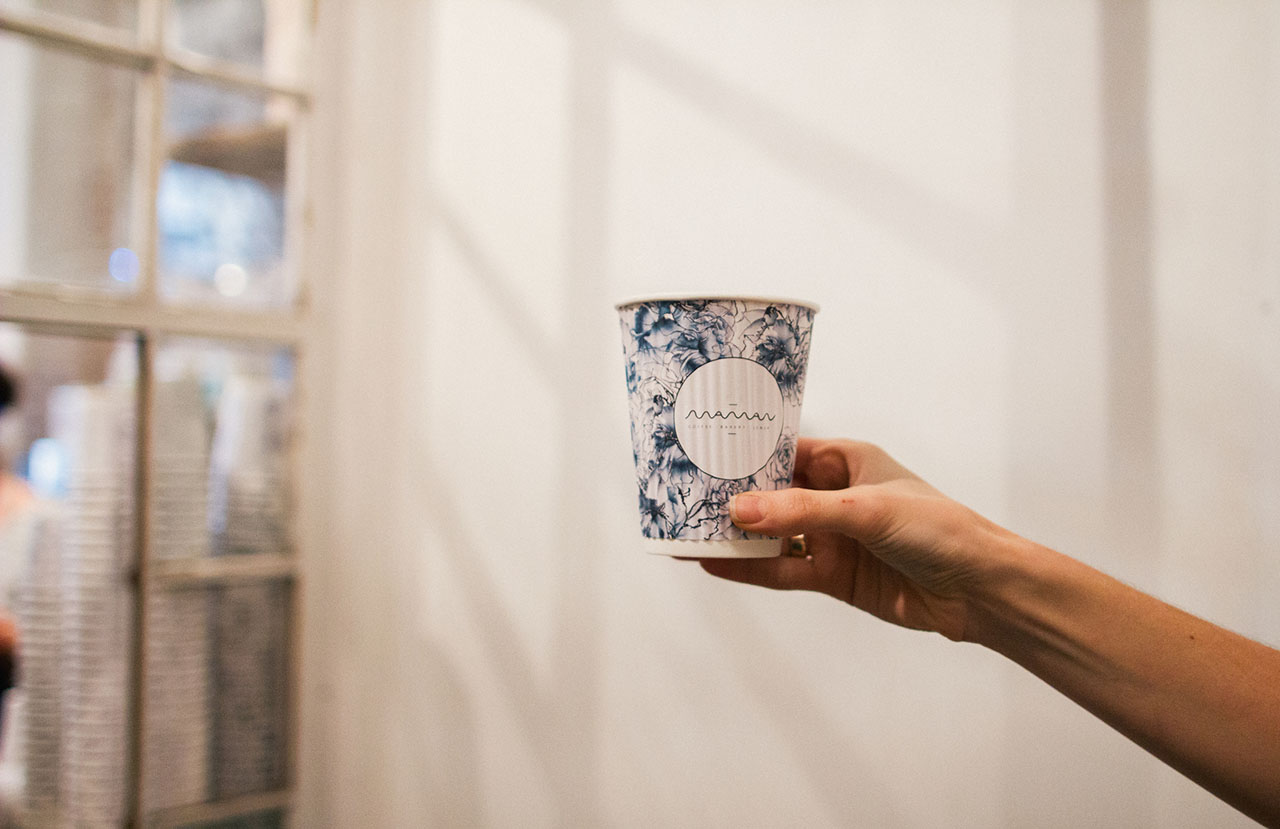 Cup design for Maman Cafe.