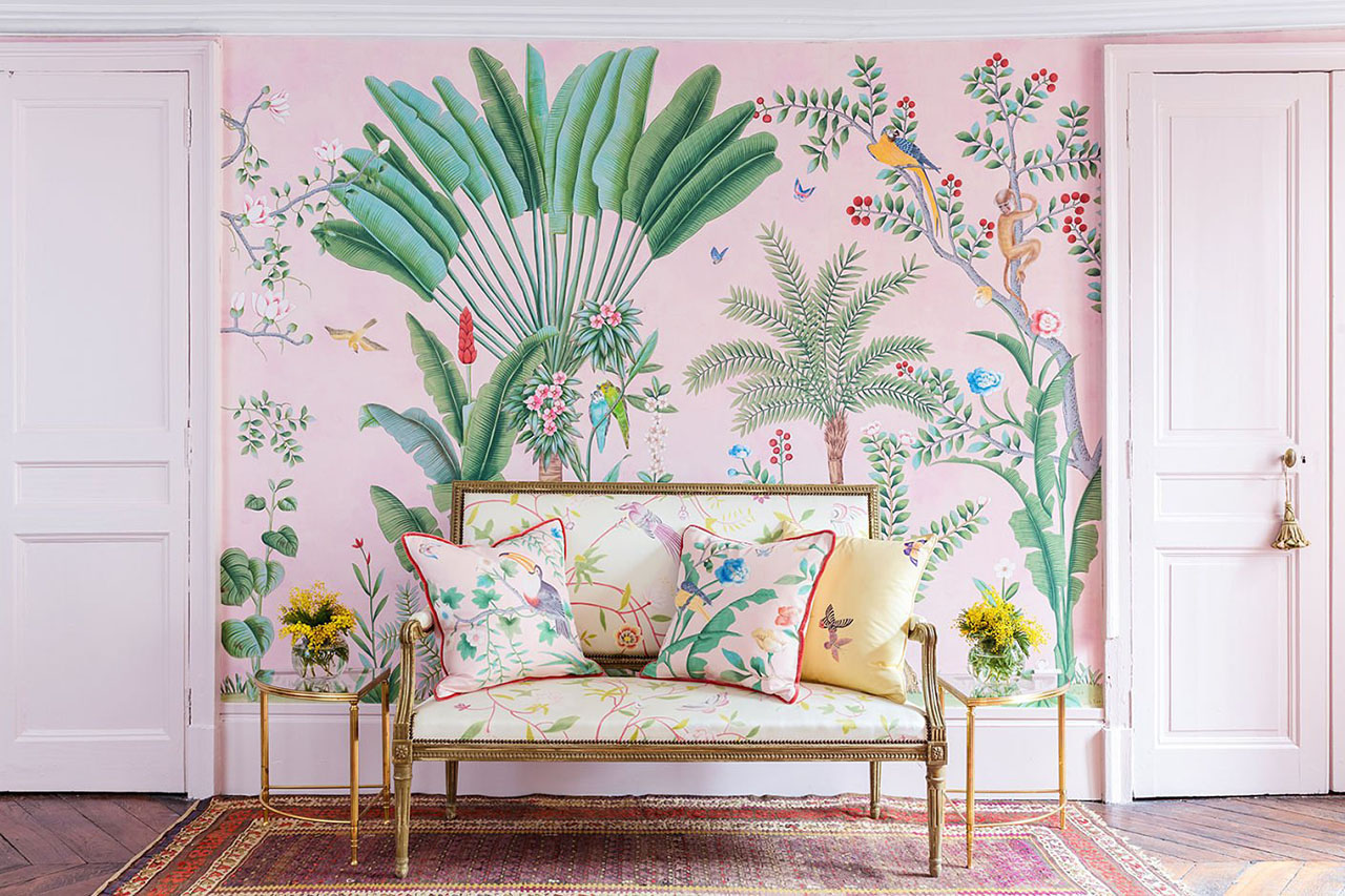 'Amazonia' design in standard design colours on custom pink edo painted xuan paper/ Photography by Mariam Medvedeva