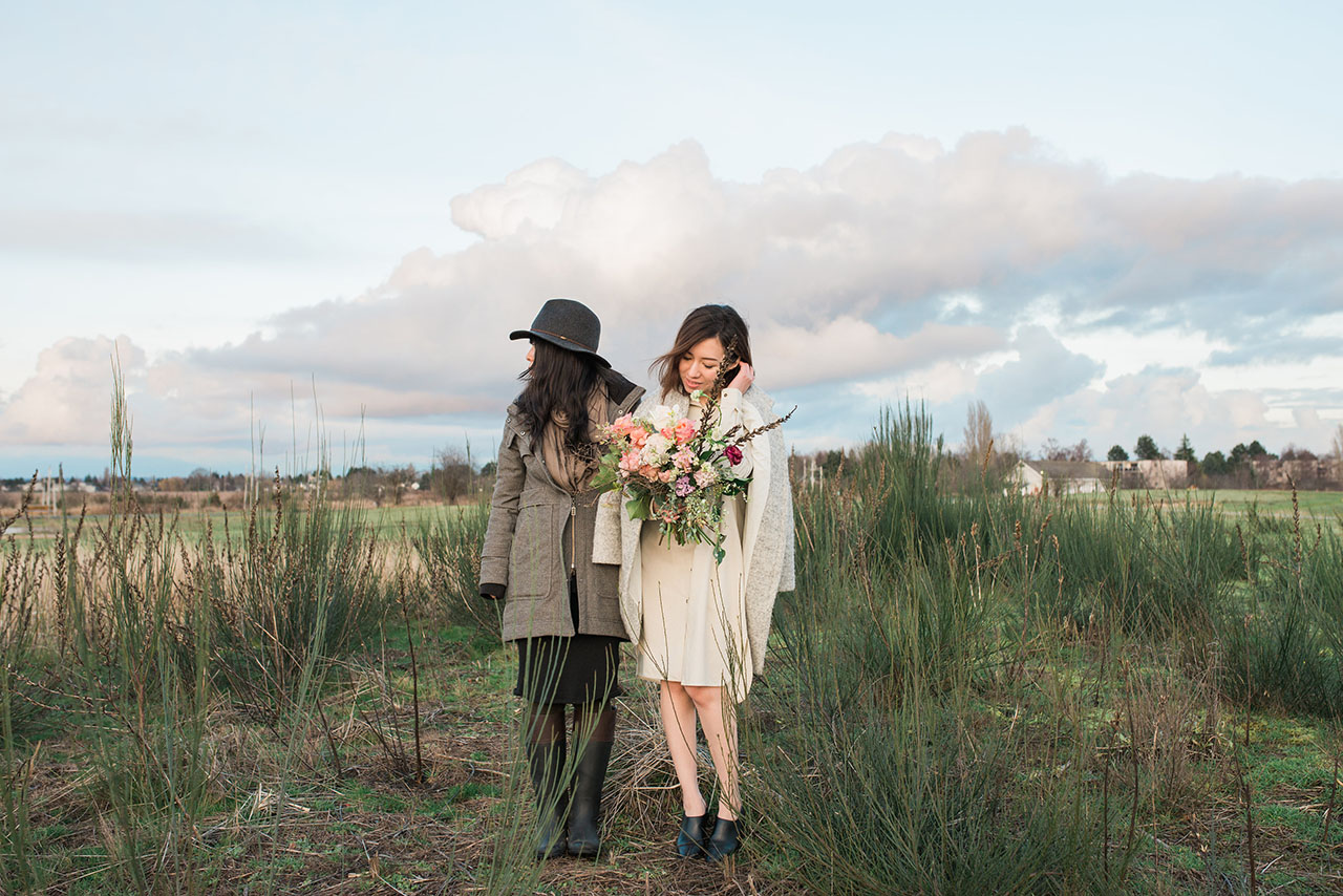 Eriko Semitsu is pictured on the left in a photoshoot.