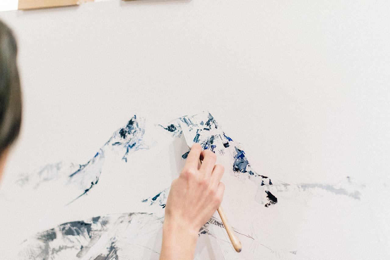 Pendulum Magazine - Live Painting with Mya