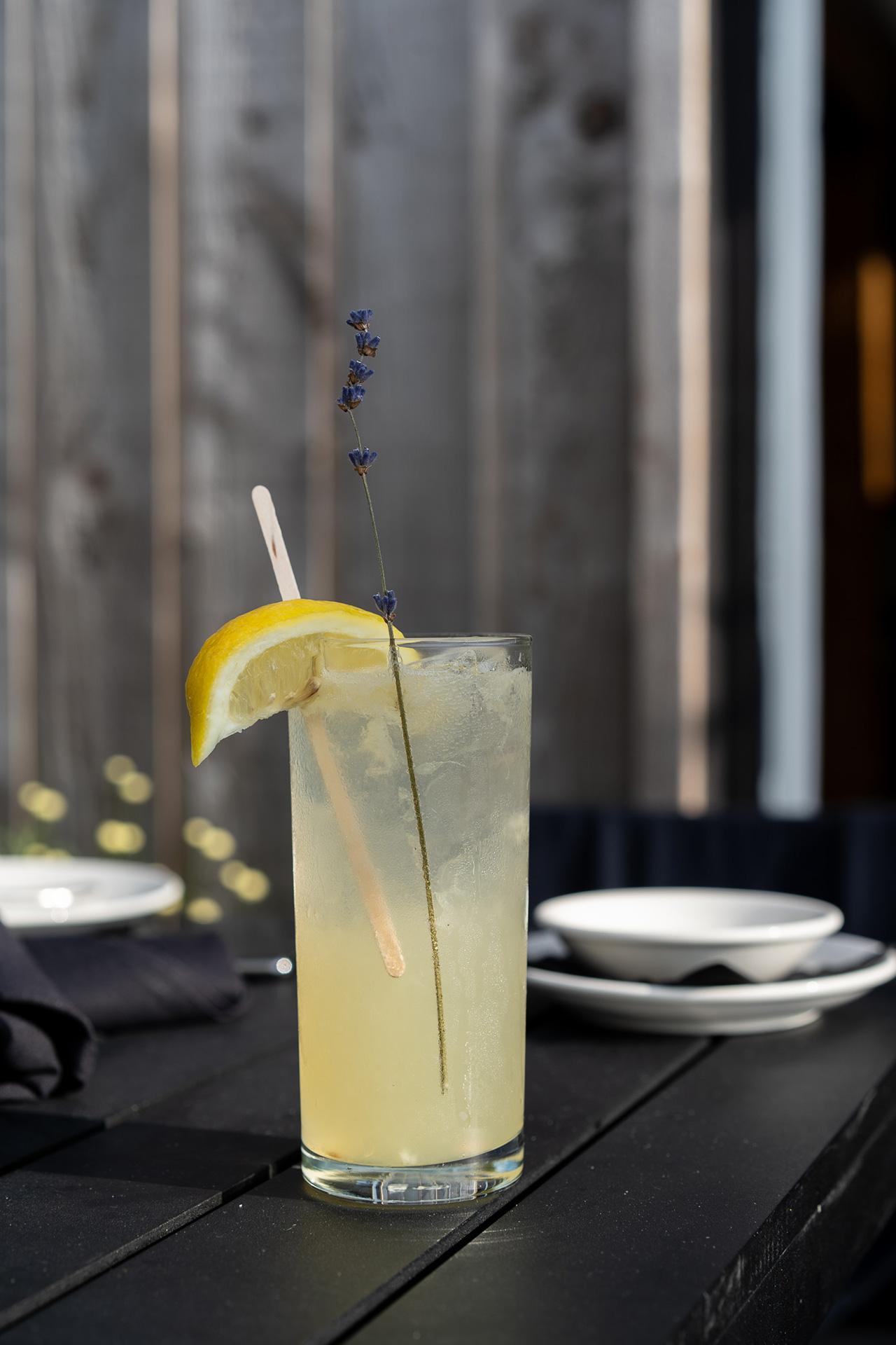Lemon Lavender Mocktail.