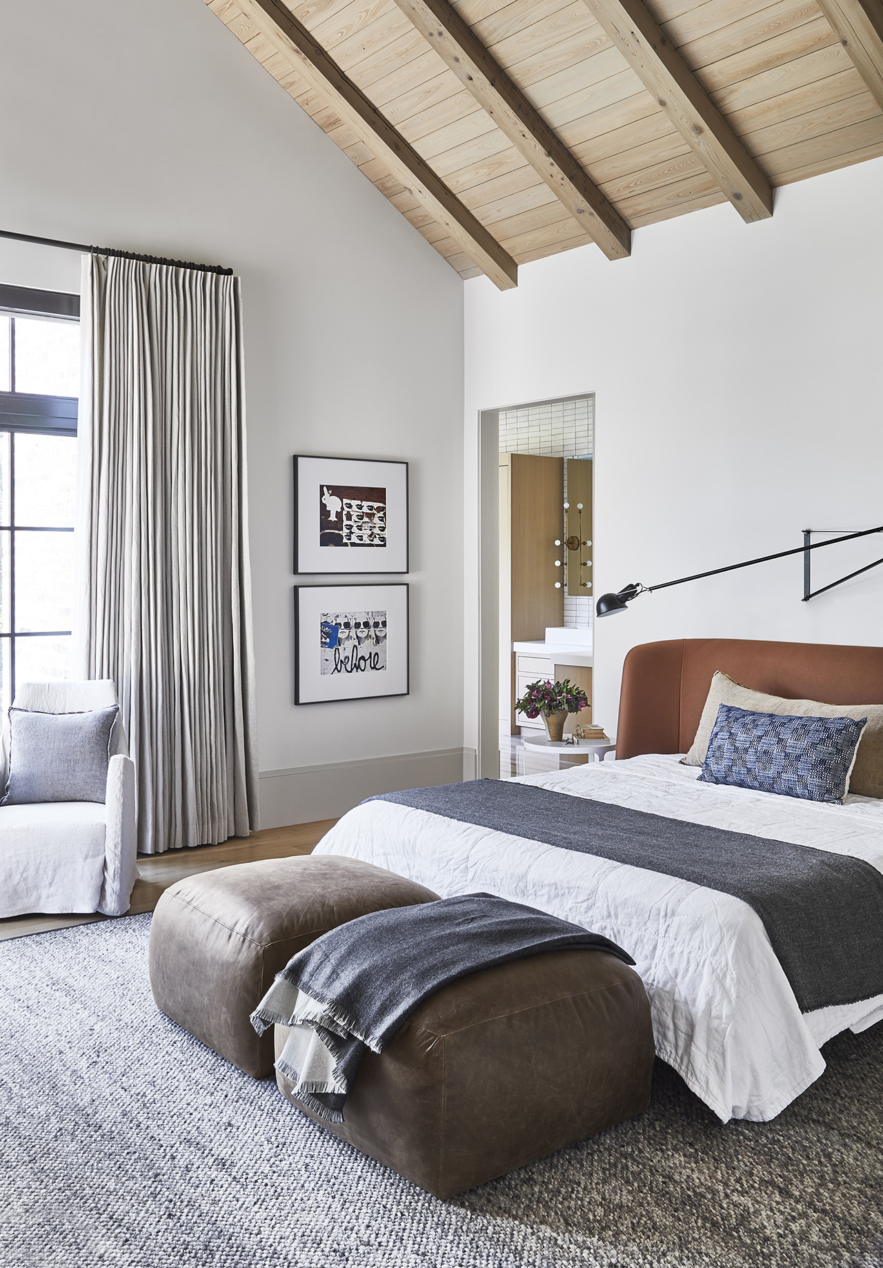 The master bedroom with ensuite pictured below.