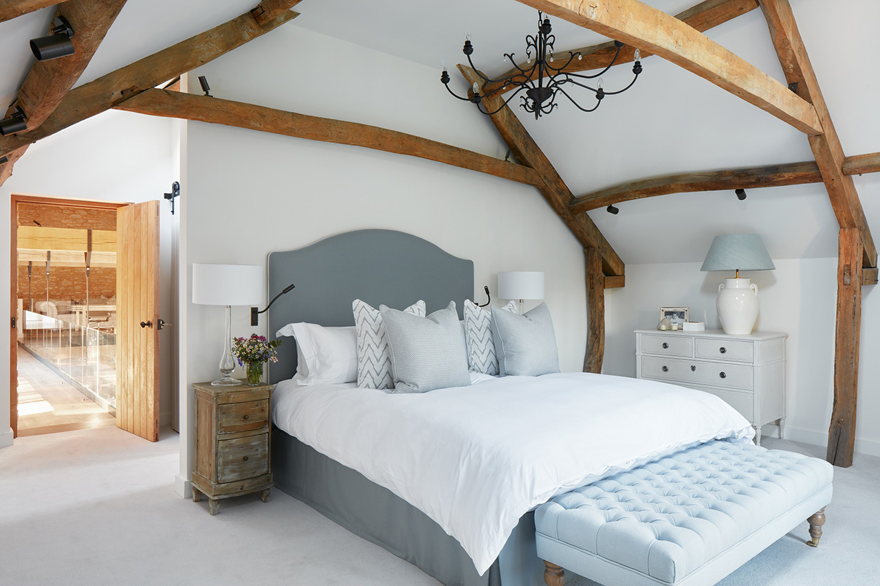 One of the guest bedrooms in the residence.