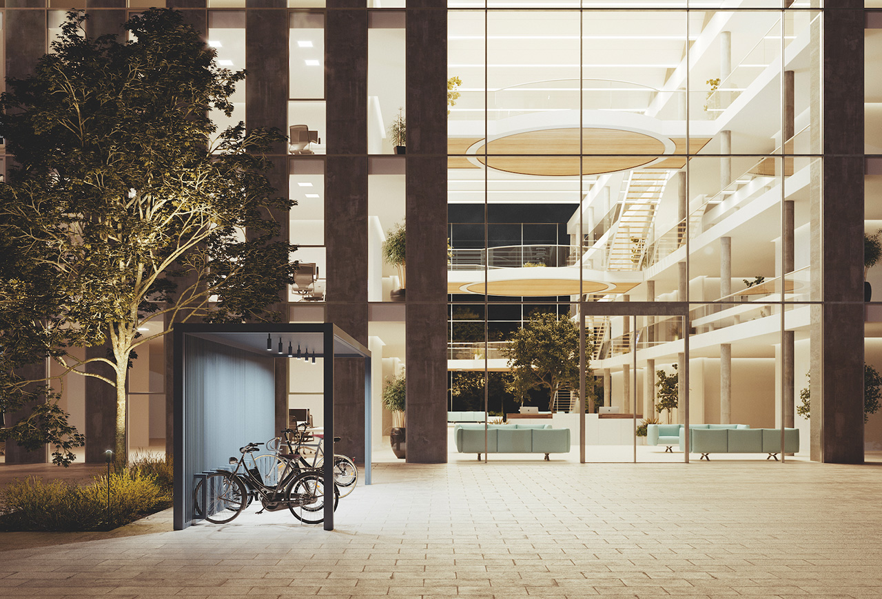 Bike Parking Pavilion.