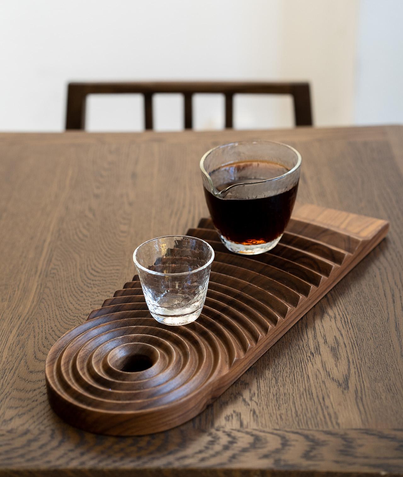 A uniquely designed serving tray.