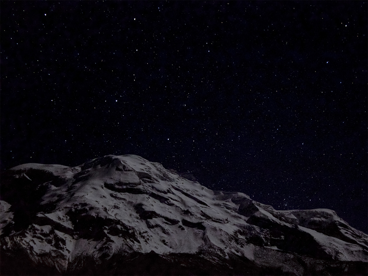 "A view of the Chimborazo Volcano from ""Hostal el Condor"". Latacunga, Ecuador."