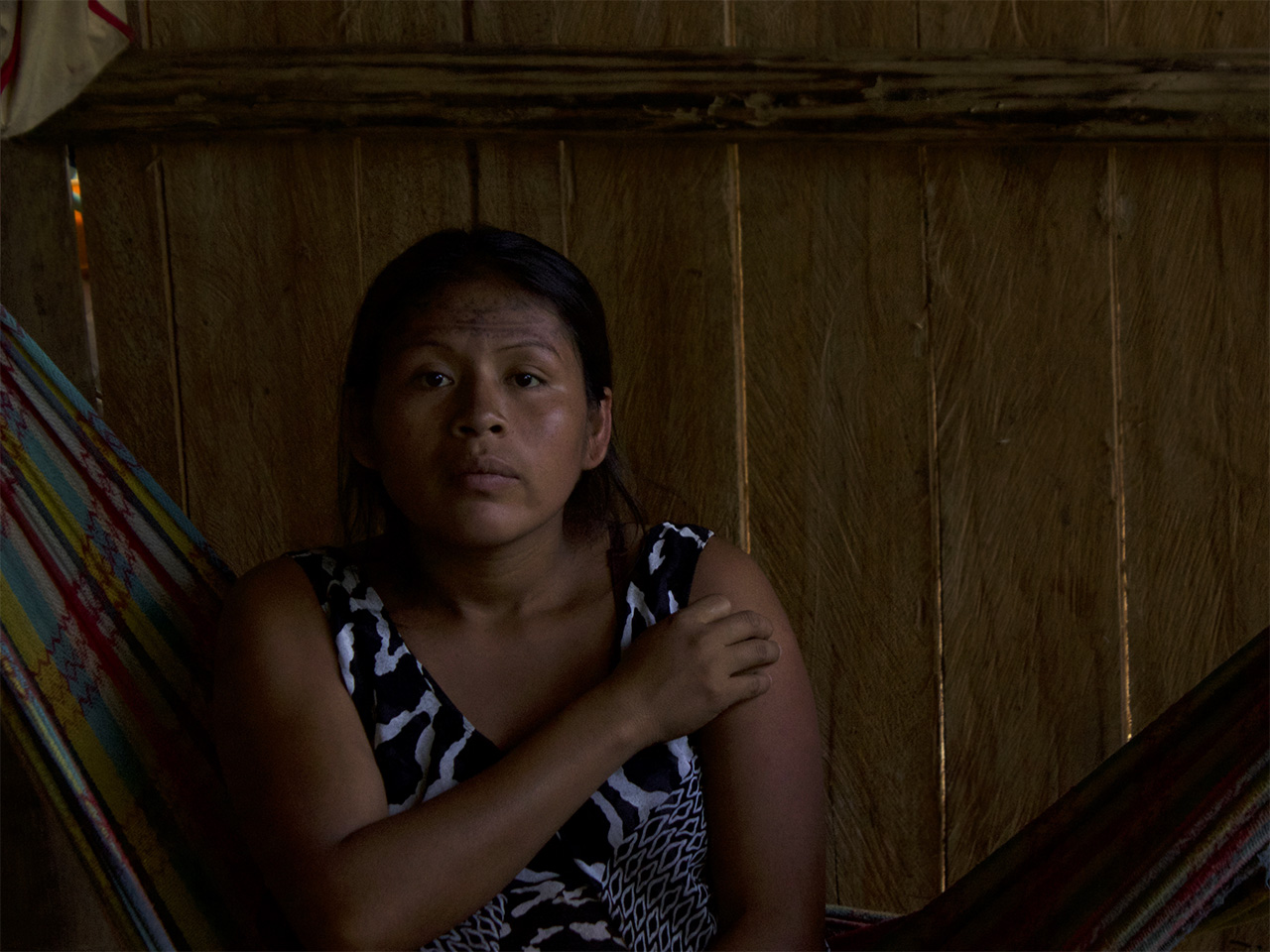 A 22-year old woman with four sons without needing caesarean section. Puyo, Ecuador.