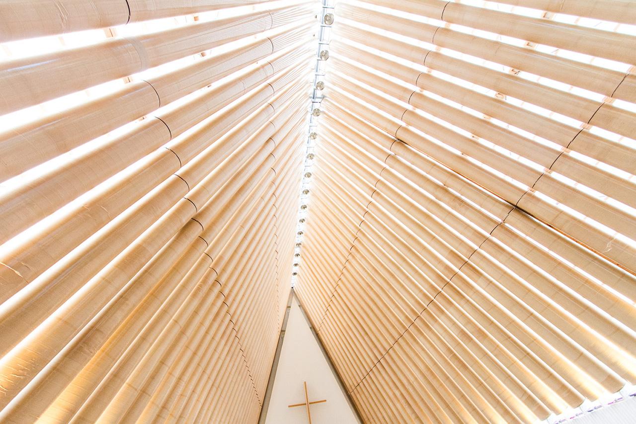 Cardboard cathedral at Christchurch designed by Shigeru Ban