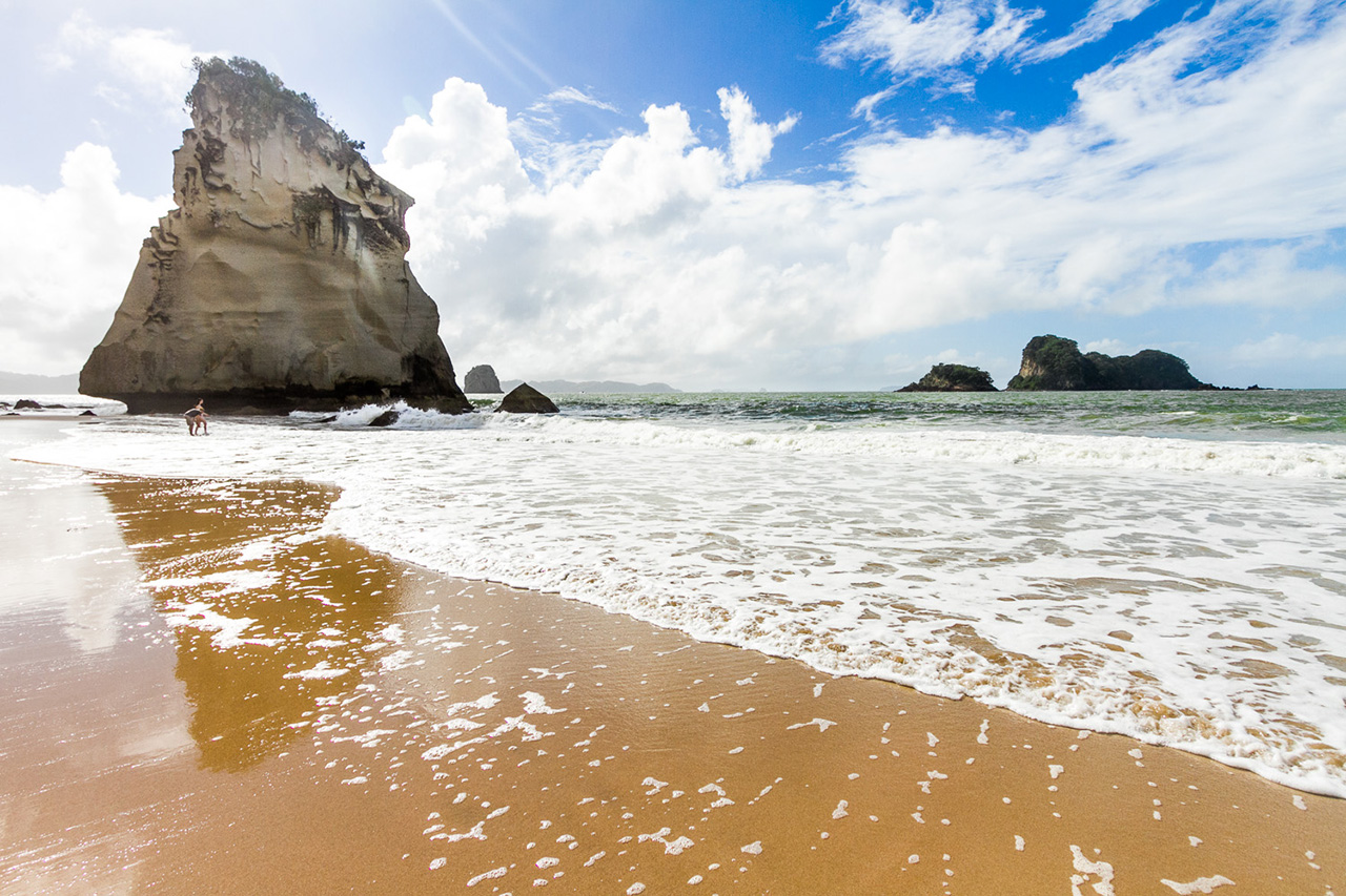 Beachside walk by the Cathedral Cove