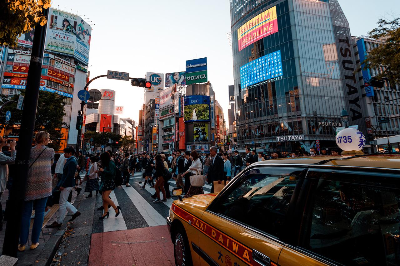 The morning rush in Shibuya.