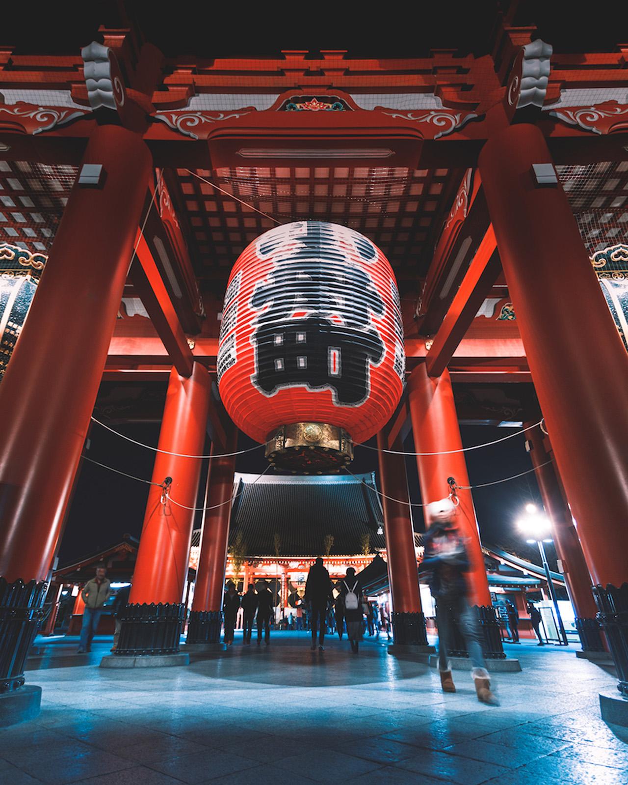 A short train ride takes you to Asakusa, where you can visit Tokyo's oldest temple, Sensō-ji.