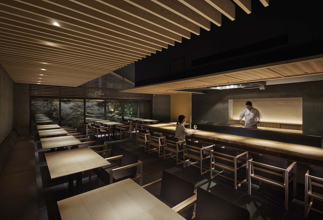 Kakatojo restaurant on the ground floor of Onsen Ryokan Yuen Shinjuku.