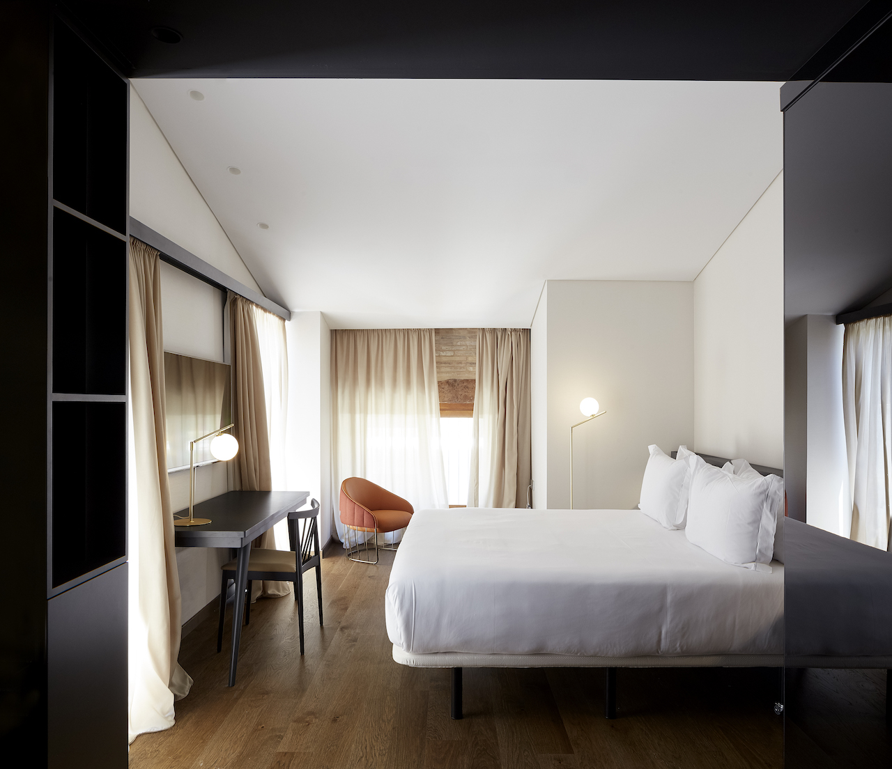 Each separate bedroom features a completely different colour scheme and theme.
