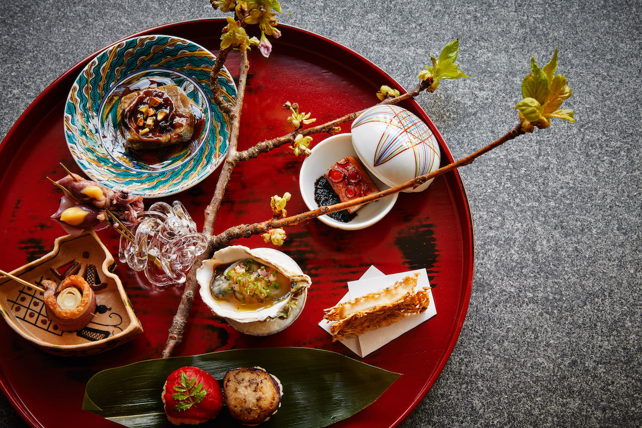 The beautiful Hassun       course features a stunning assortment of Japanese delicacies.