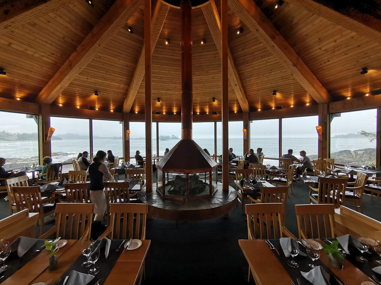 Wickaninnish Inn Gourmet Restaurant View