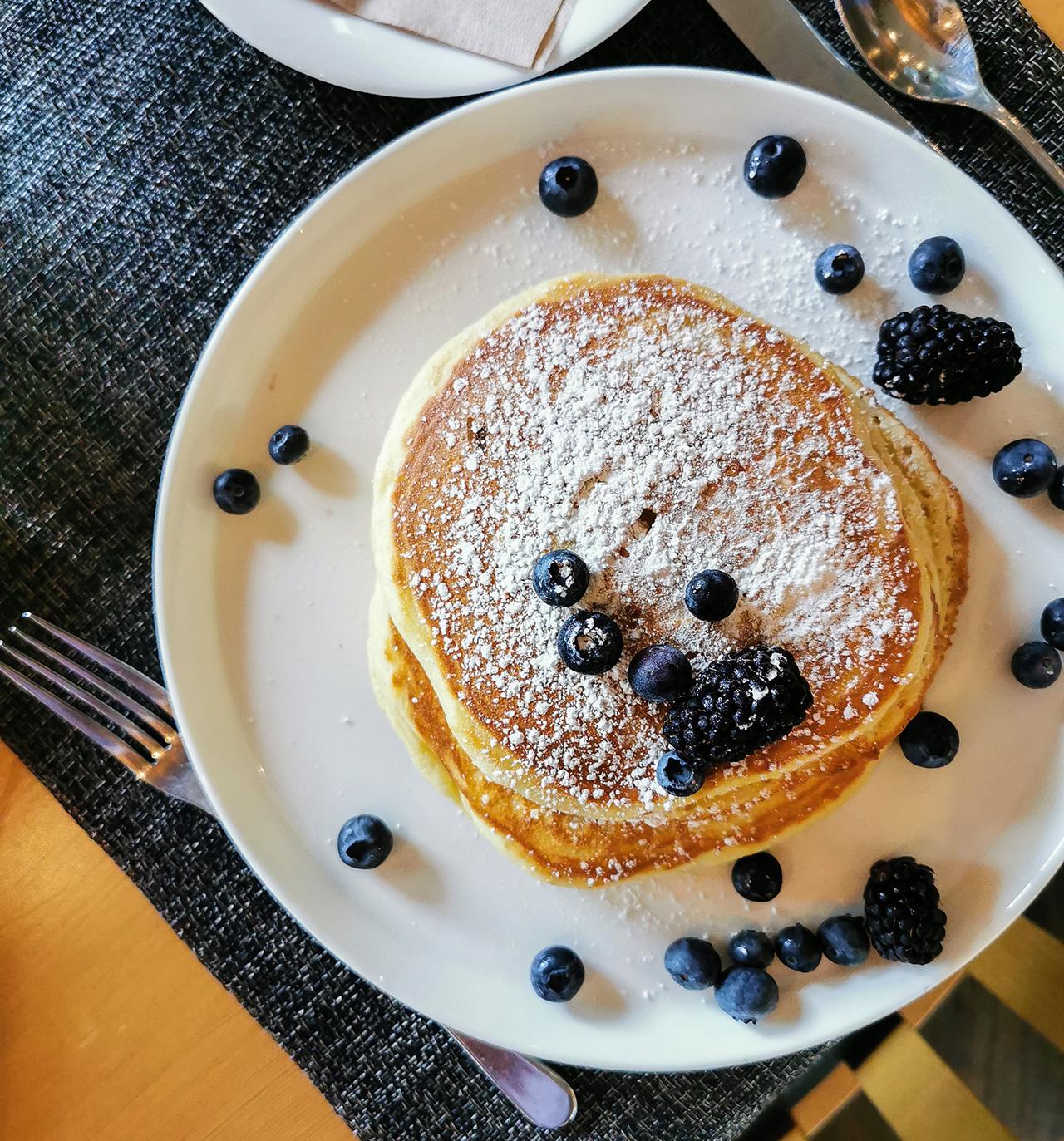 Wickaninnish Inn Blueberry Pancakes