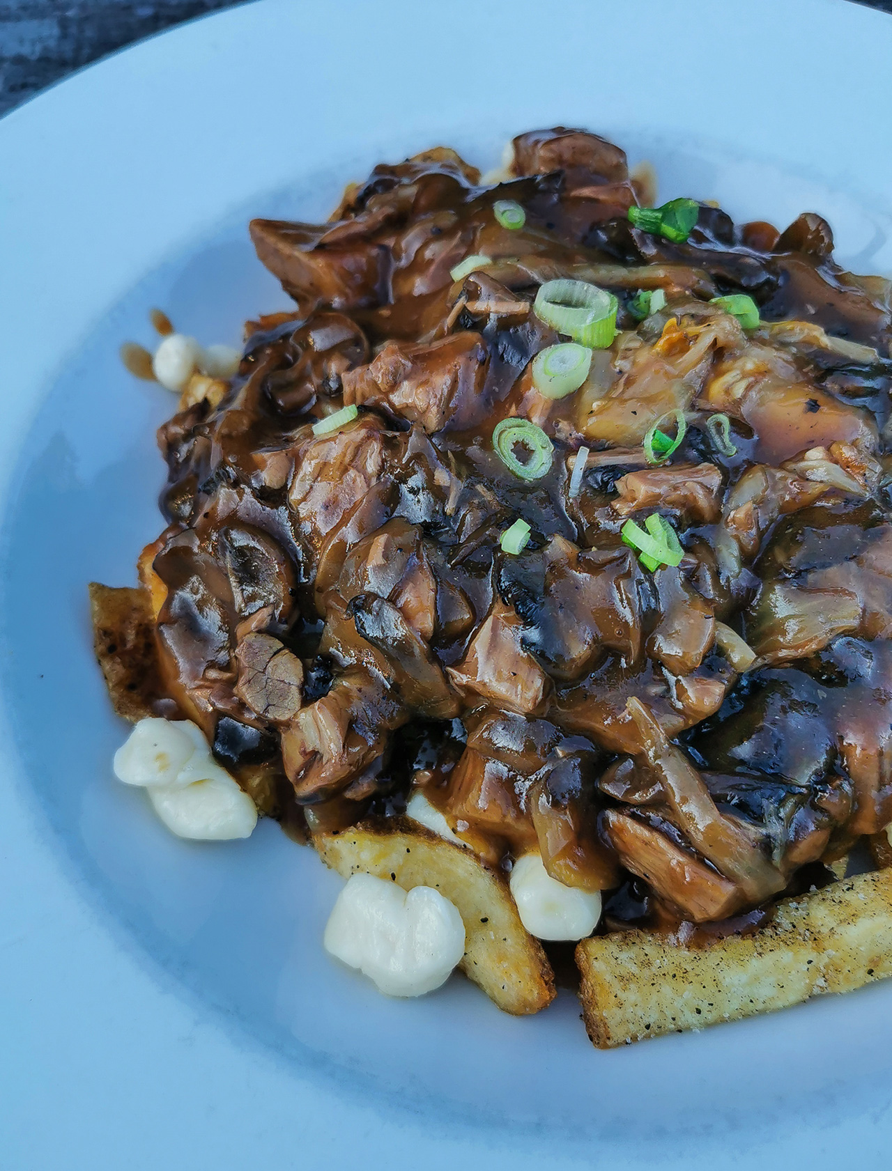 Loaded pulled pork poutine.