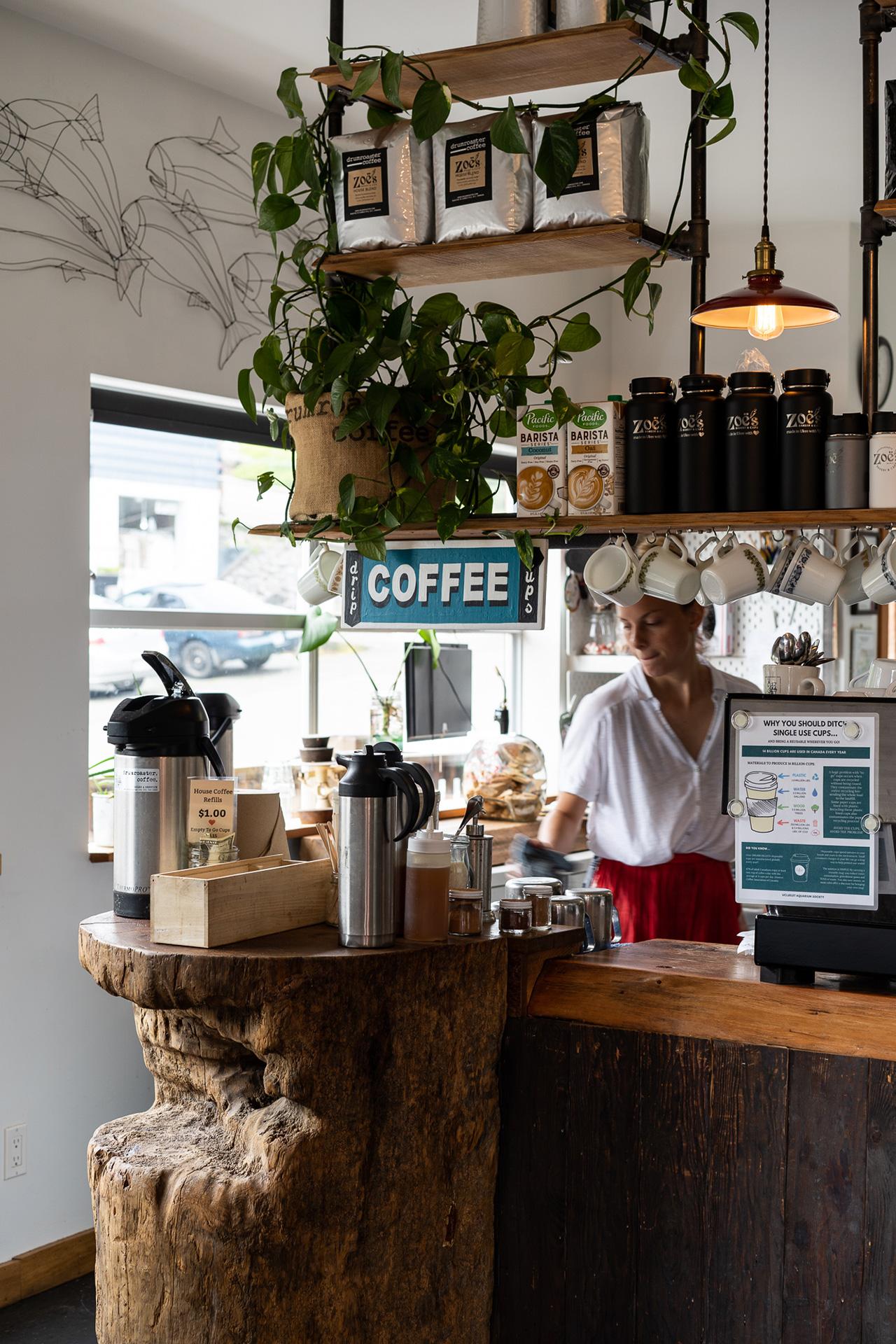 Zoe's Cafe Ucluelet by Pendulum Magazine