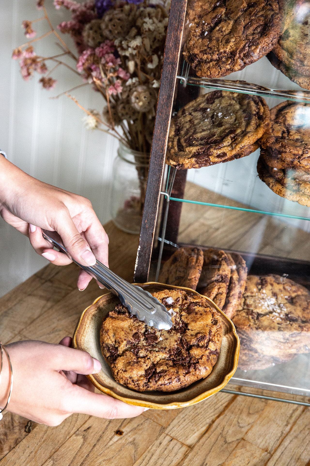 Dark chocolate sea salt cookies. Who could resist?
