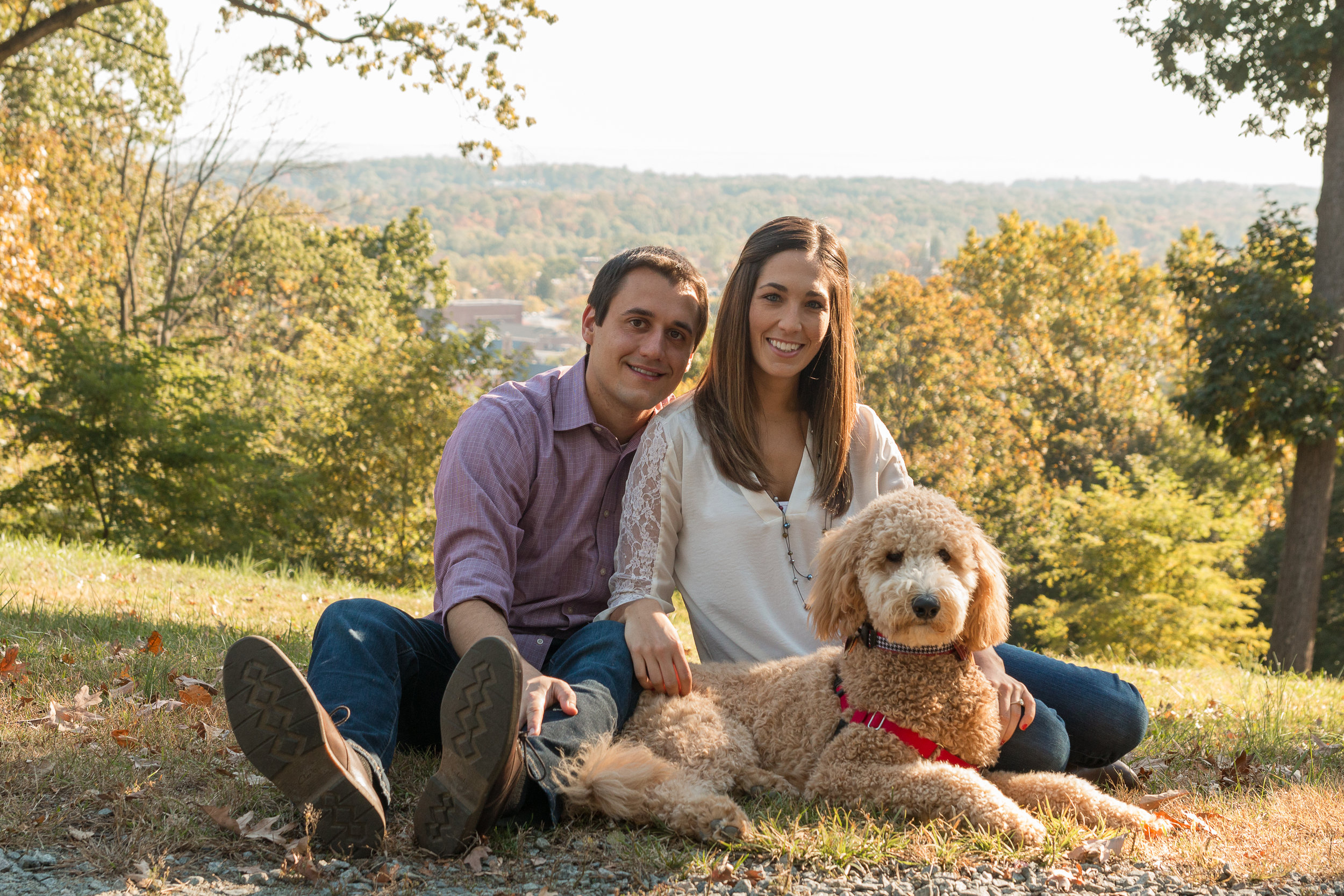 Nick and Kim's (and Ruby) Morristown Engagement -