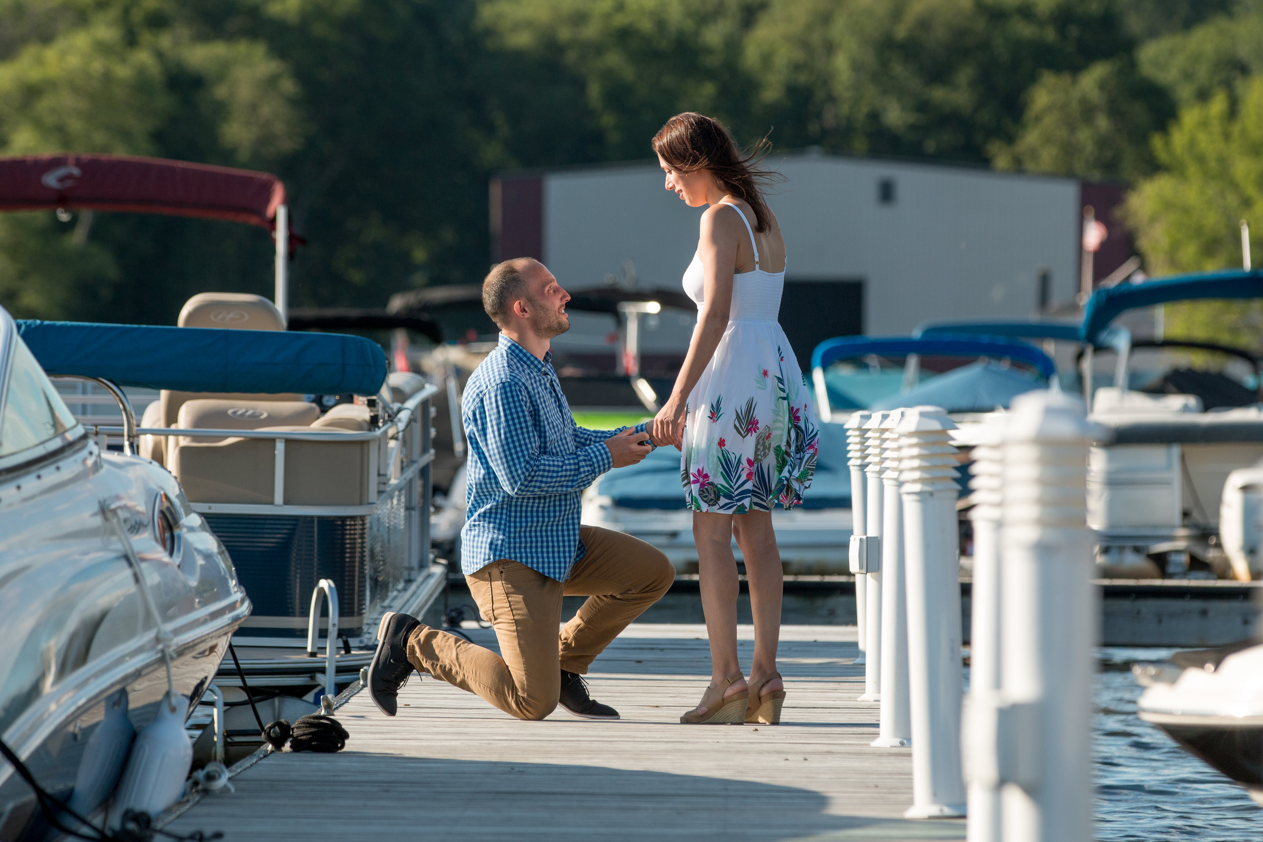 Andrew and Melissa's Lake Hopatcong Proposal \ -