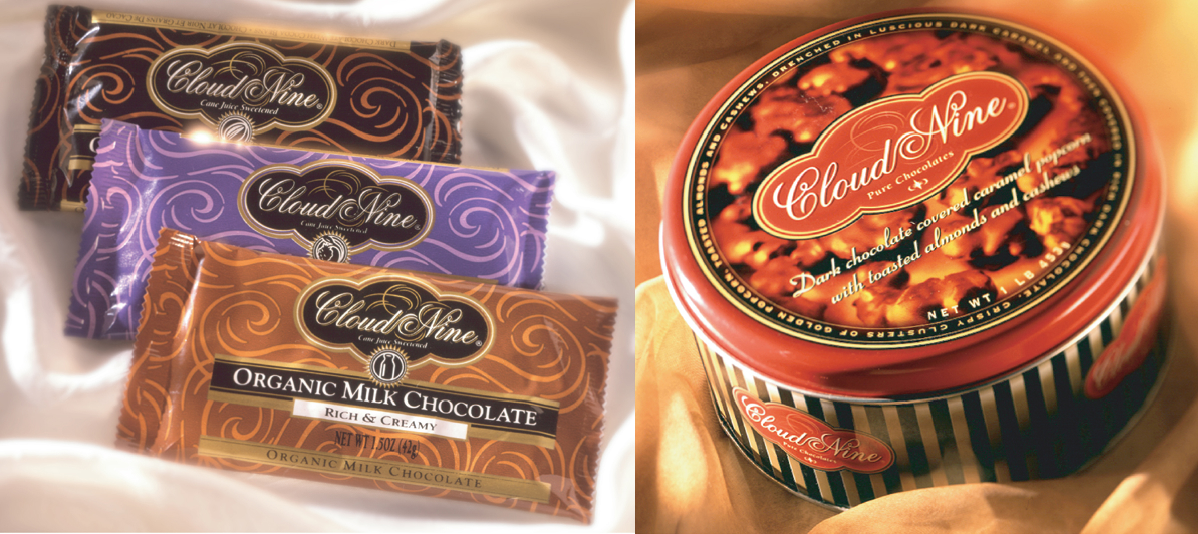 Cloud Nine Chocolates & Candy Packaging