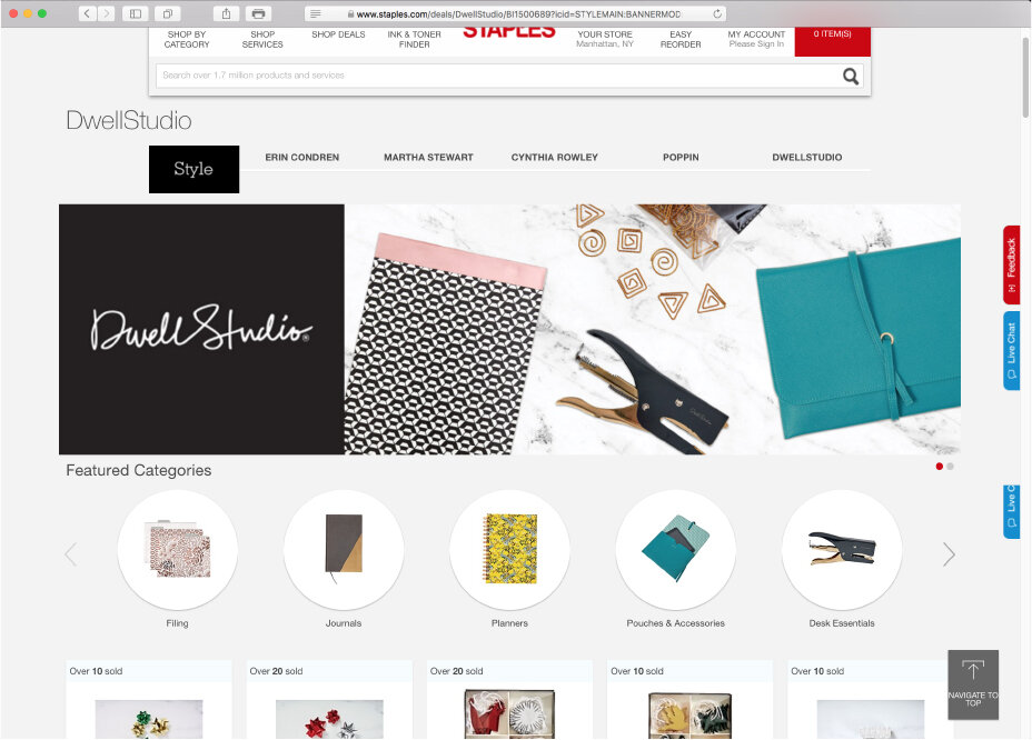 Style At Staples Websales Portal Page