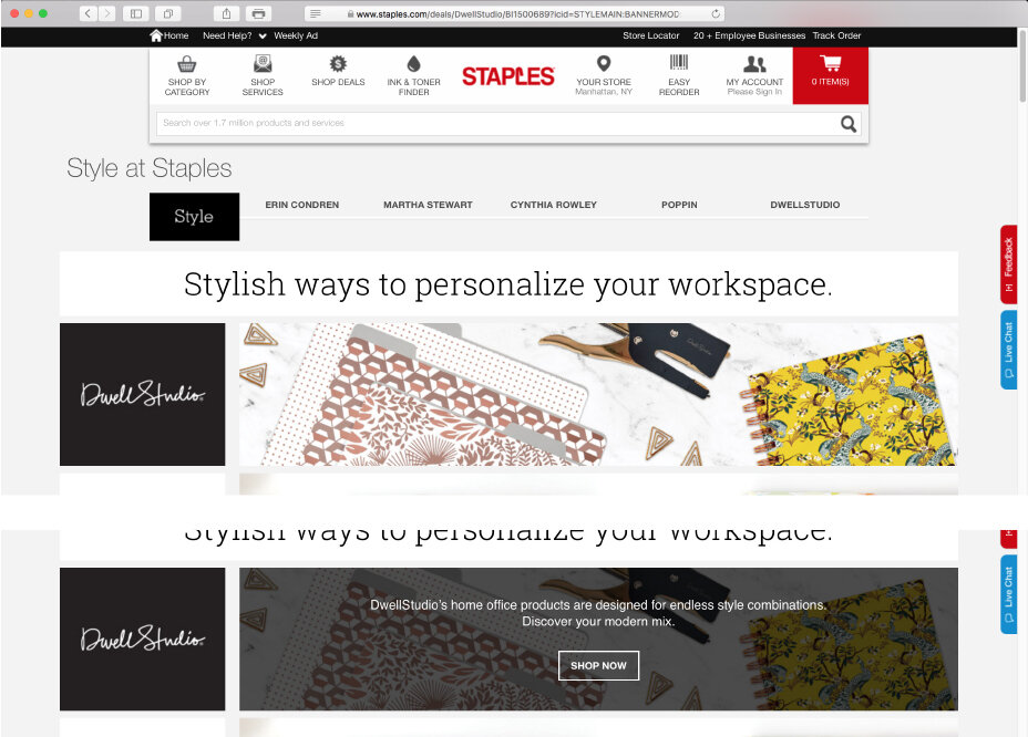 Style At Staples Sales Portal Entry Page